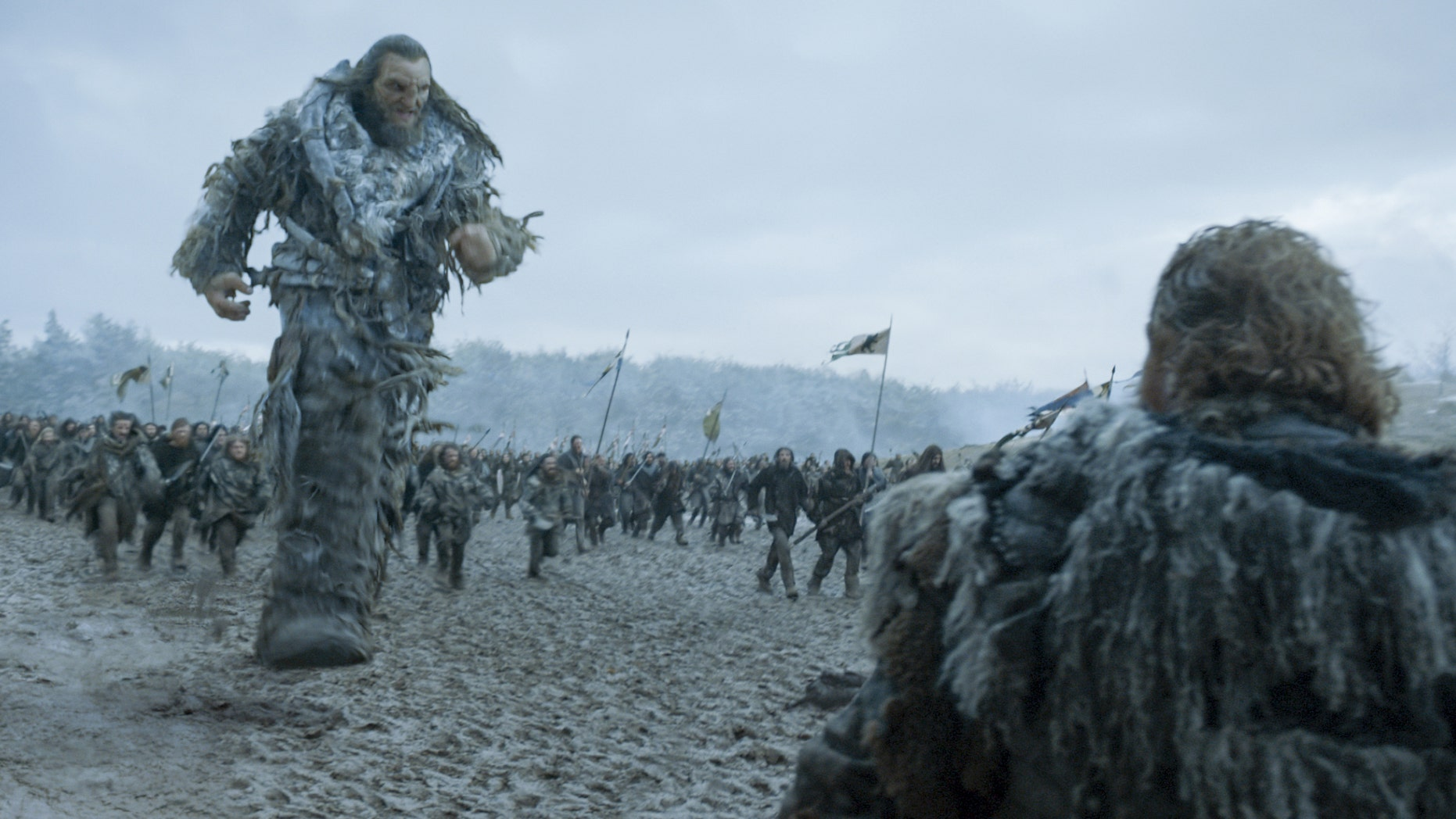 "Neil Fingleton (left) as Mag the Mighty in ""Game of Thrones."""