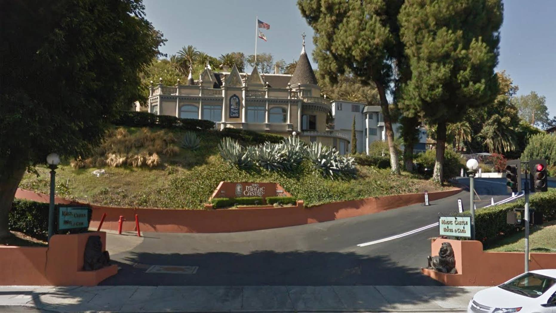 Exterior of Hollywood's Magic Castle where magician Daryl Easton accidentally hanged himself.