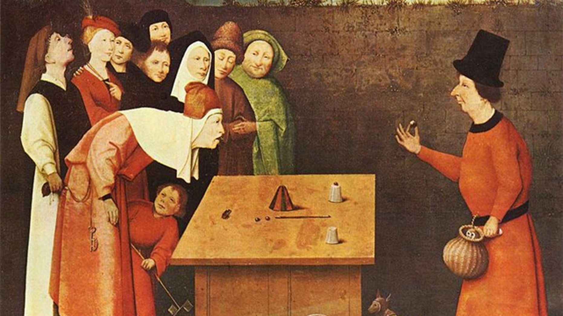 The Conjurer, 1475-1480, by Hieronymus Bosch.