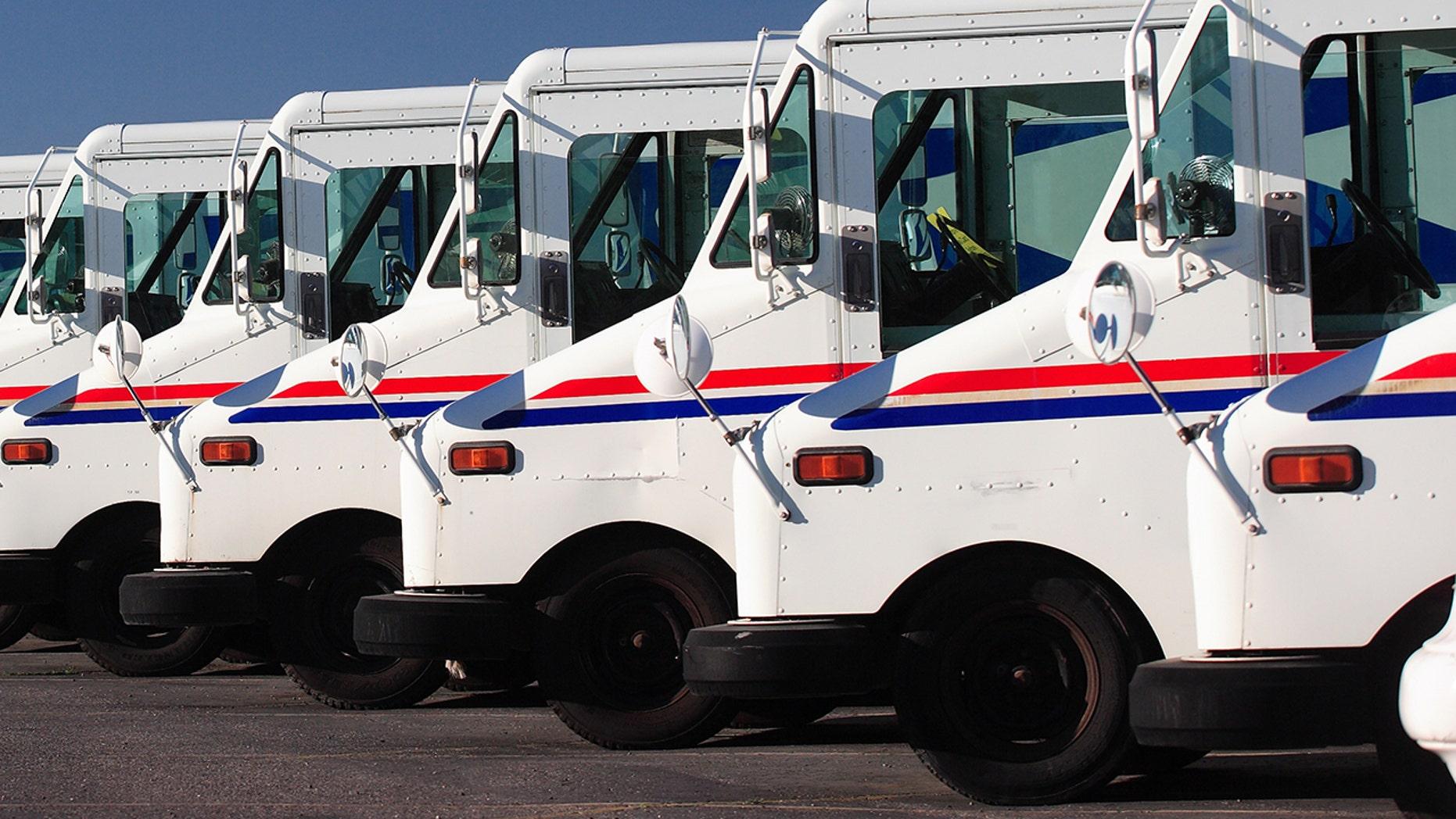 USPS trucks (file)