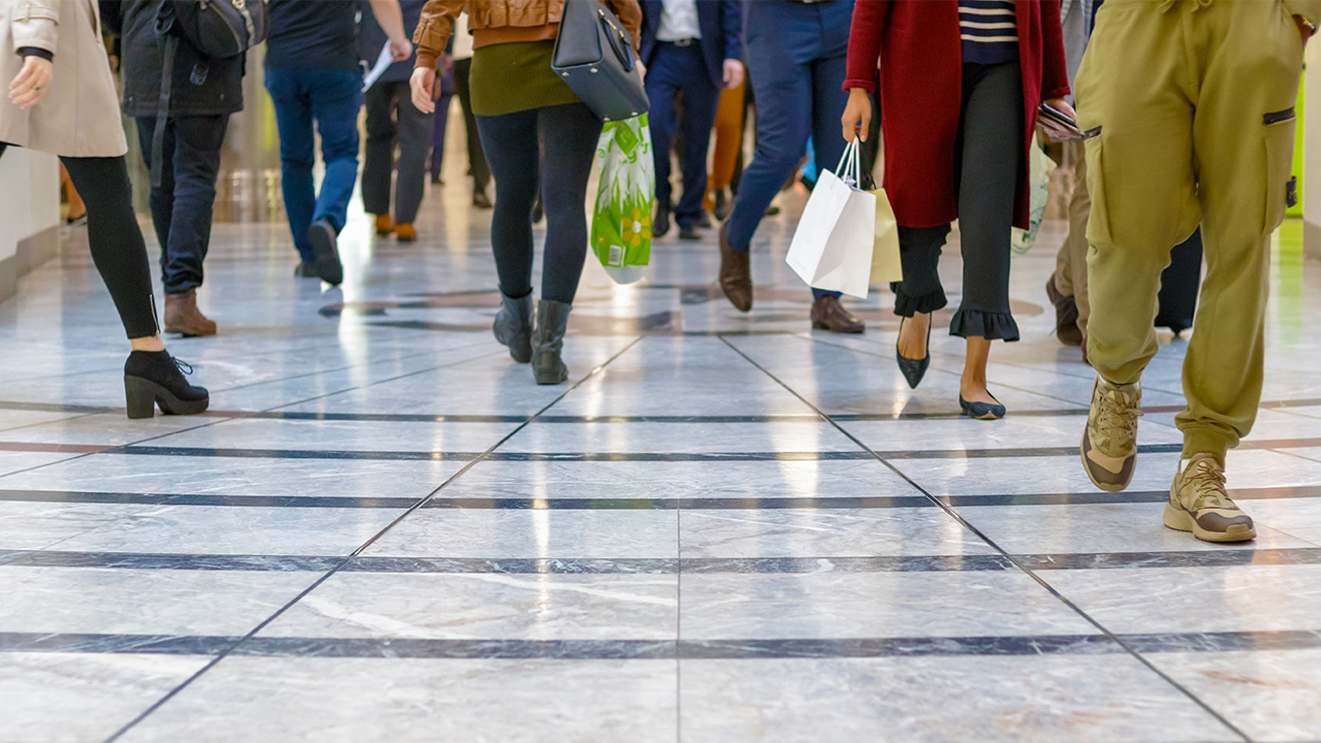 "A shopping center in England introduced a ""fast lane"" for shoppers annoyed by slow walkers"