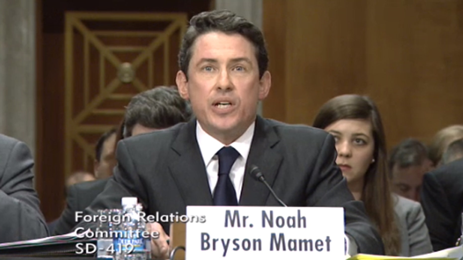 Feb. 6, 2014: Noah Bryson Mamet, nominee to be ambassador to Argentina, speaks before the Senate Foreign Relations Committee.