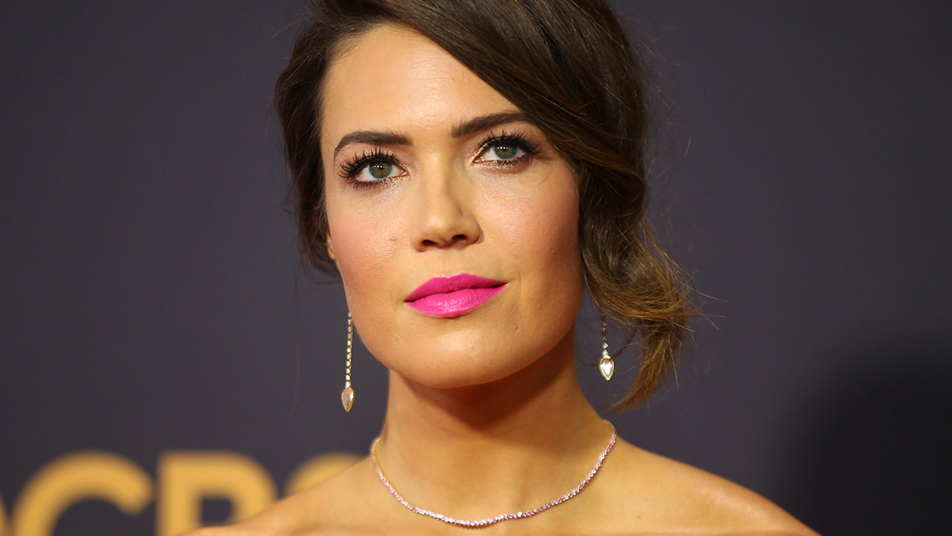 """Mandy Moore, here at the 69th Emmy Awards, says the current season of """"This is Us"""" will unfold in a """"spectacular way."""""""