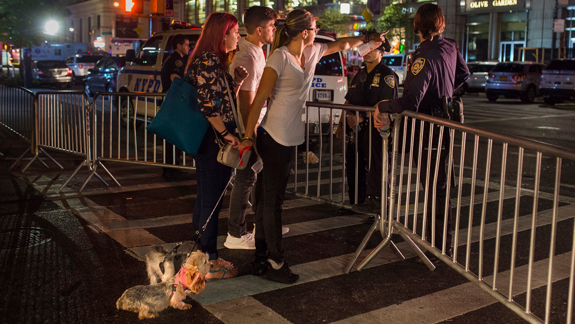 Sept. 18, 2016: People try to access the area near the scene of an explosion on West 23rd Street and 6th Avenue in Manhattan's Chelsea neighborhood.