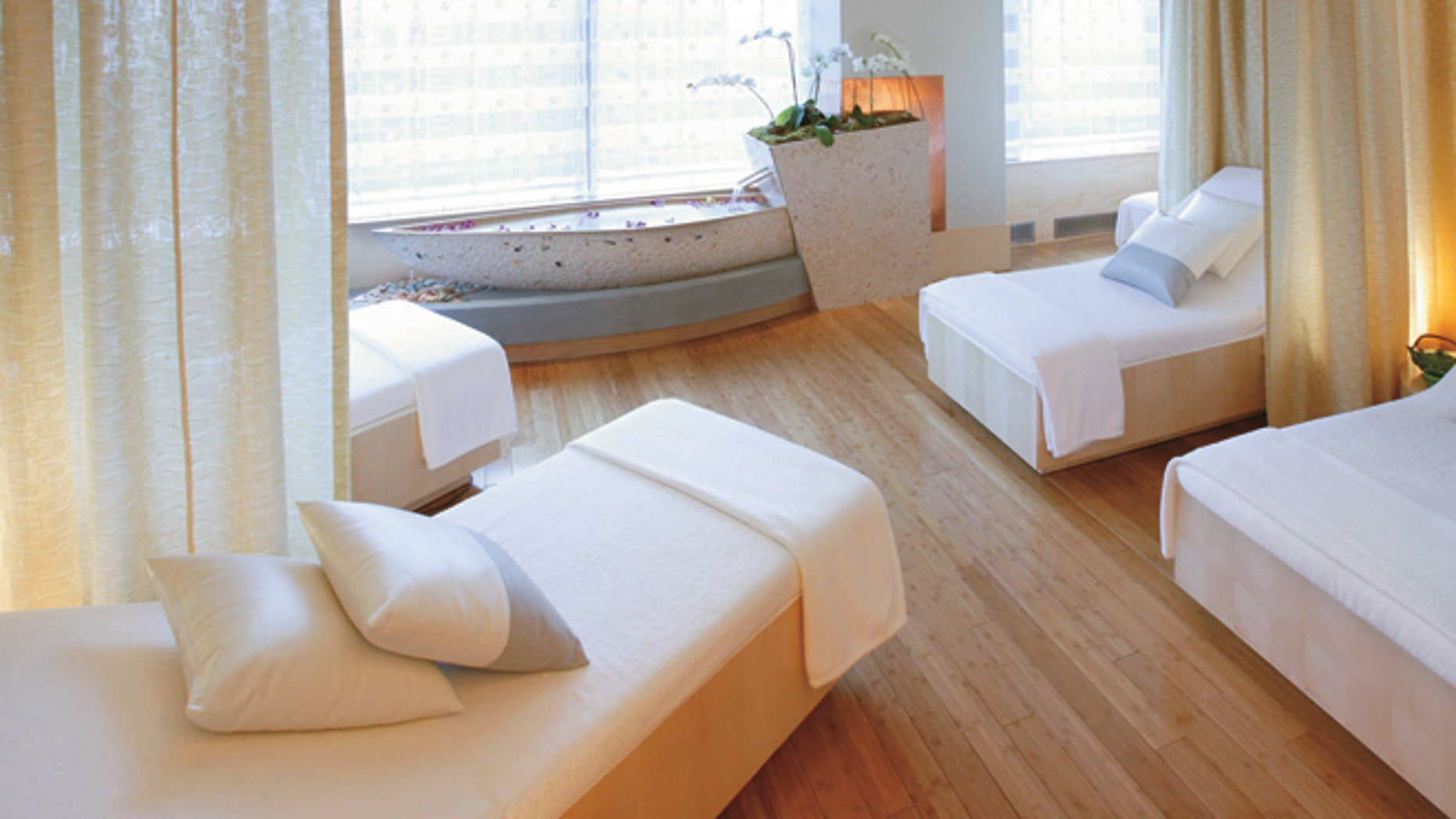 The Spa Relaxation Room at the Mandarin Oriental New York