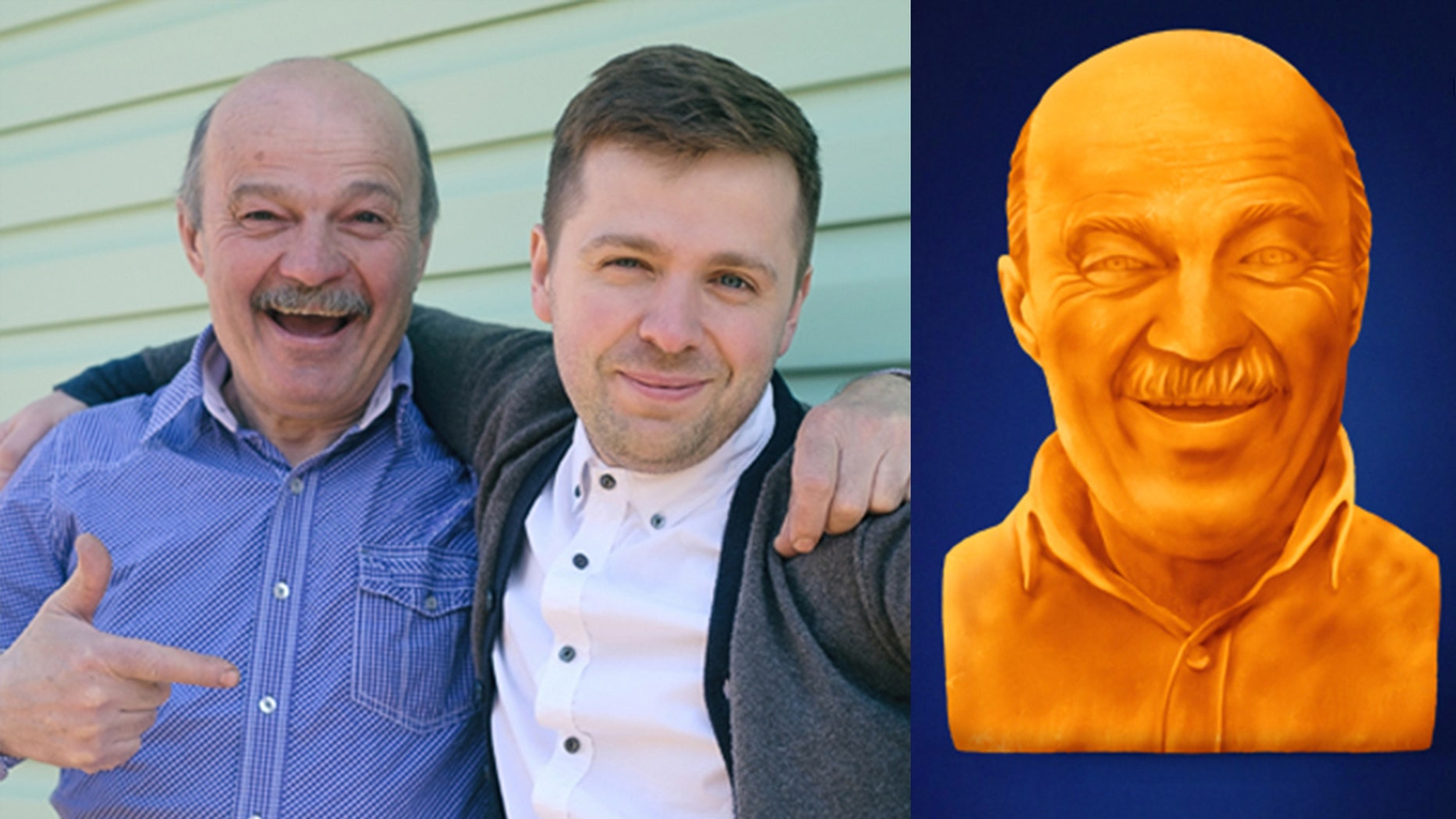 """Five lucky winners can """"commemorate dad's cheesy greatness"""" with a personalized cheese sculpture, just in time for Father's Day."""