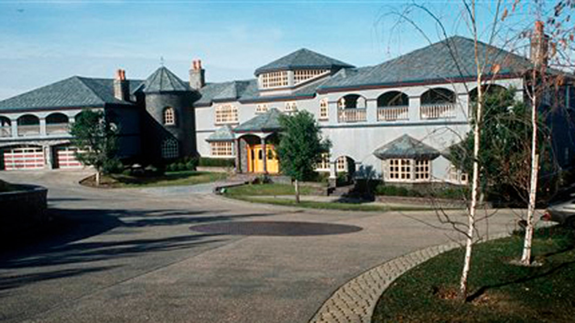 Dec. 16, 1993: This file photo is an outside view of the mansion in Novato, Calif., bought by former Ukranian Prime Minister Pavel Lazarenko for $6.7 million.