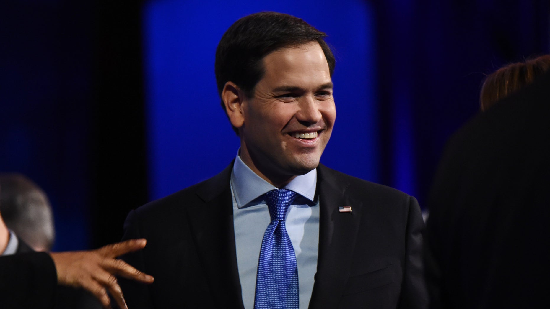 Republican presidential hopeful Marco Rubio attends the third Republican Presidential Debate, October 28, 2015 at the Coors Event Center at the University of Colorado in Boulder, Colorado.  AFP PHOTO / ROBYN BECK        (Photo credit should read ROBYN BECK/AFP/Getty Images)
