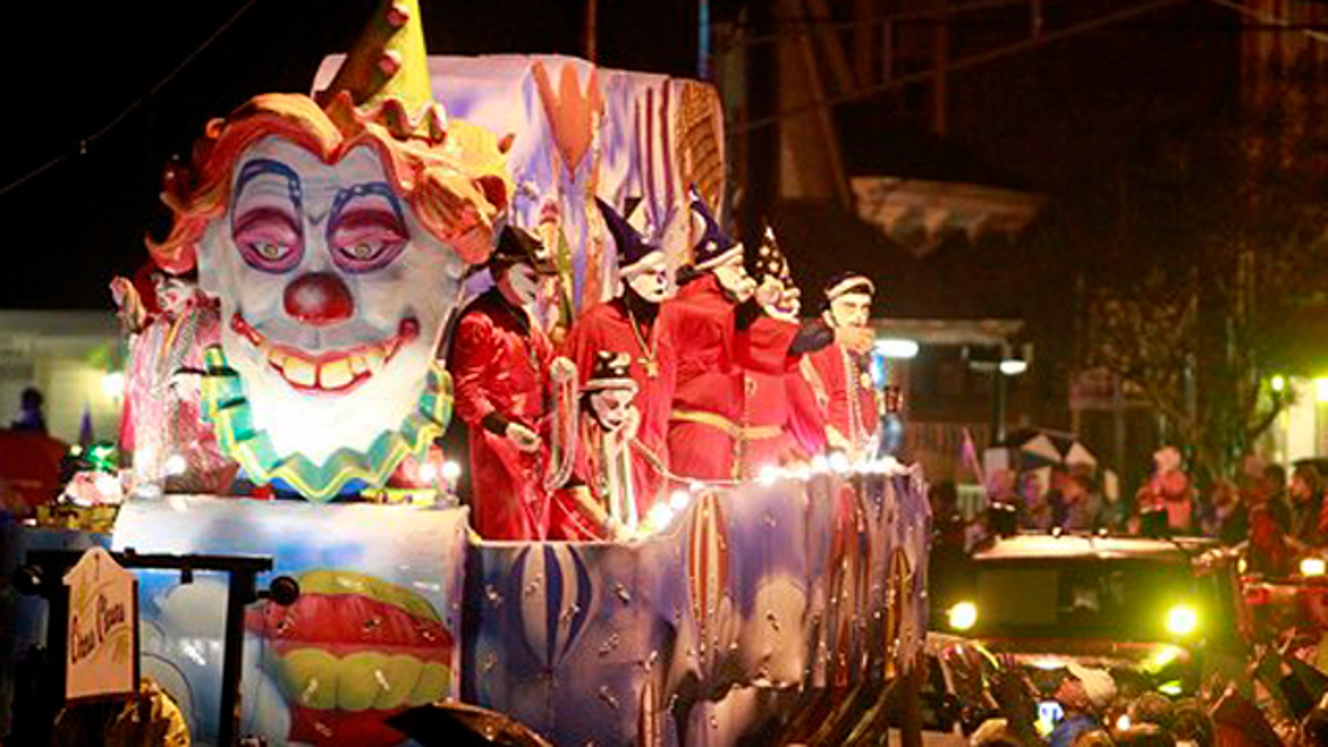 Feb. 15, 2012: The Ancient Krewe of  Druids parade rolls down Magazine Street in New Orleans.