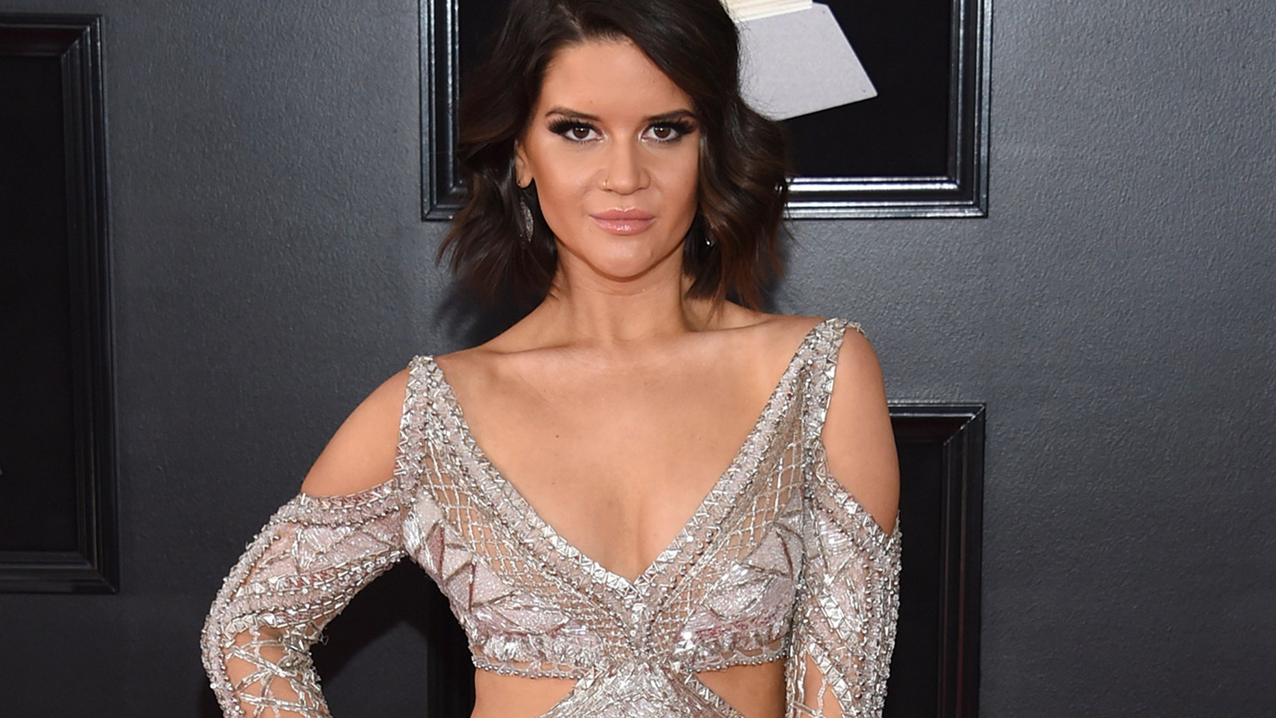 Maren Morris arrives at the 60th annual Grammy Awards at Madison Square Garden on Sunday, Jan. 28, 2018, in New York.