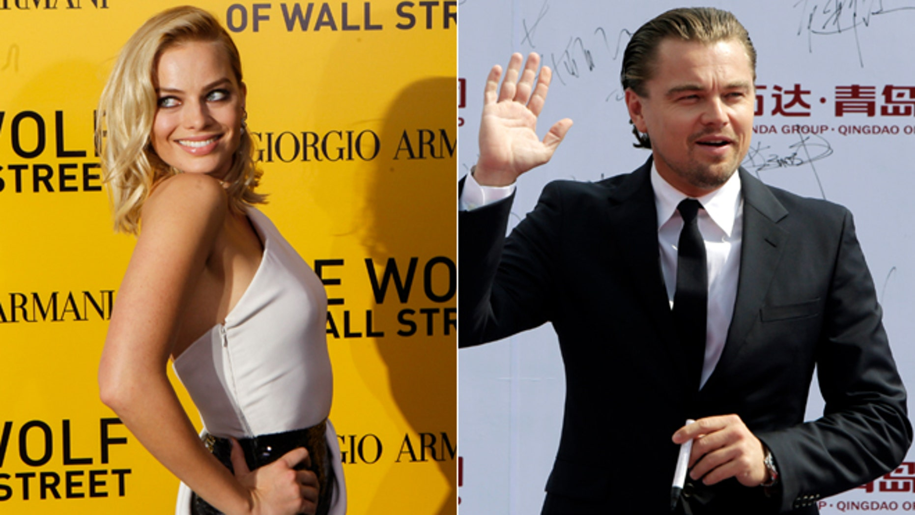 """Margot Robbie, left, and Leonardo DiCaprio both appear in """"The Wolf of Wall Street."""""""