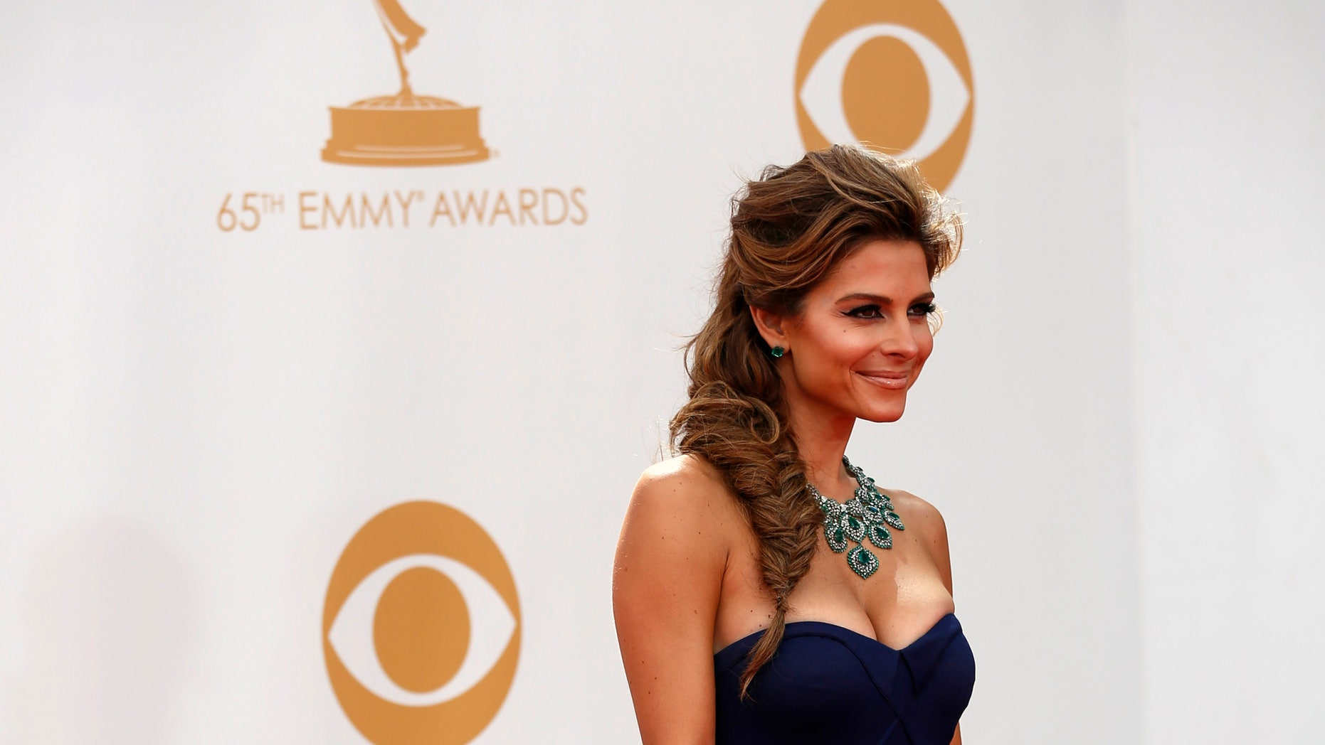 September 22, 2013. Television personality Maria Menounos arrives at the 65th Primetime Emmy Awards in Los Angeles.