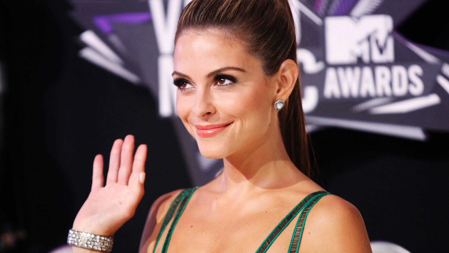 Maria Menounos opens up about health and a stressful life in the entertainment industry. Here Menounos arrives at the 2011 MTV Video Music Awards in Los Angeles.