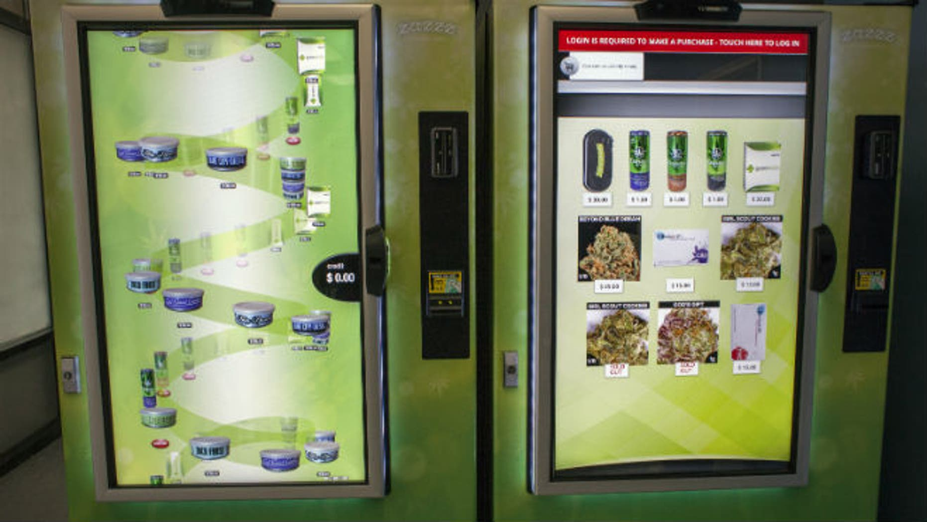 2015A view of ZaZZZ vending machines that contain cannabis flower, hemp-oil energy drinks, and other merchandise at Seattle Caregivers, a medical marijuana dispensary, in Seattle, Washington February 3, 2015. REUTERS/David Ryder