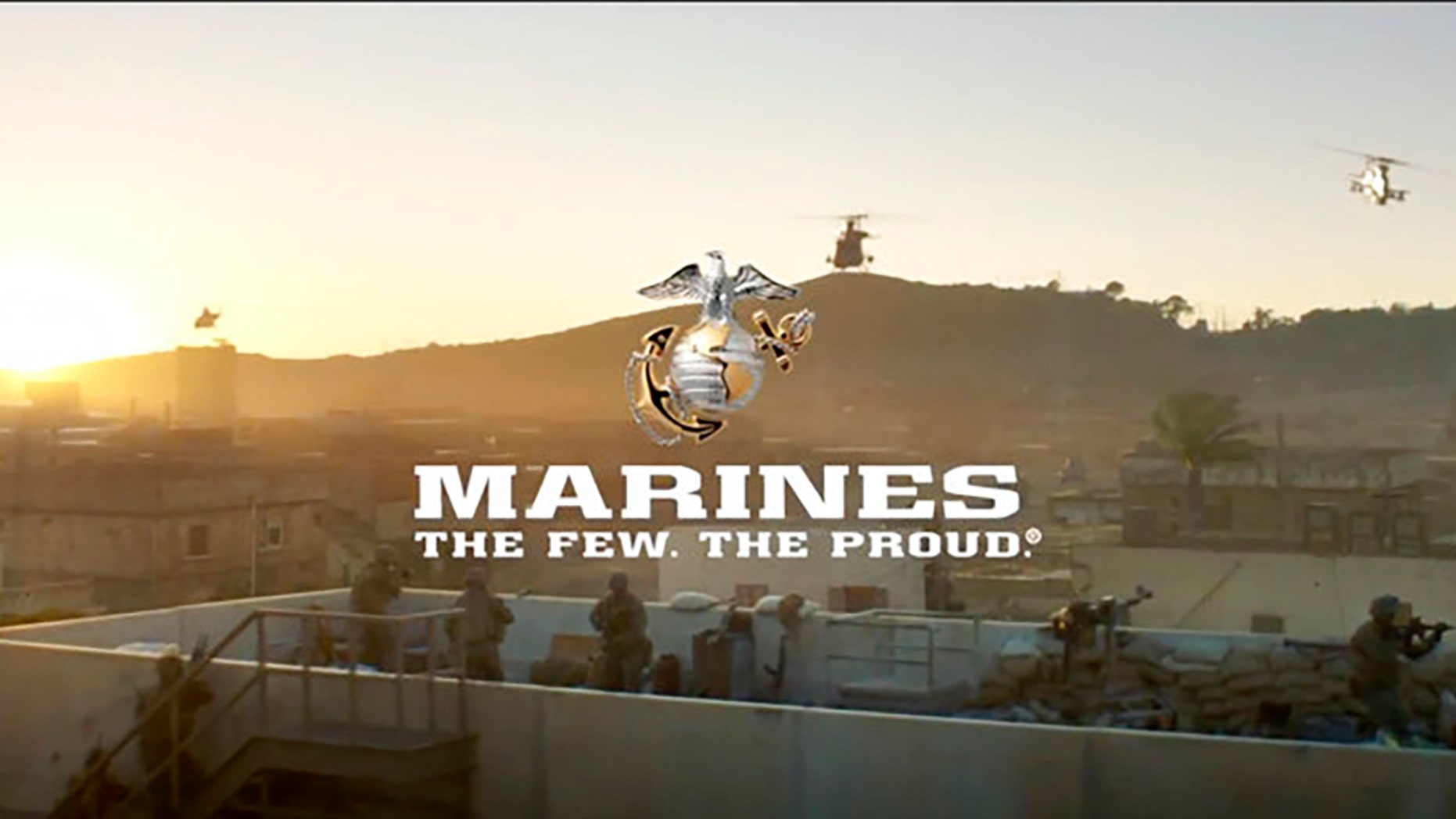 Image from a video expelled by a U.S. Marine Corps.
