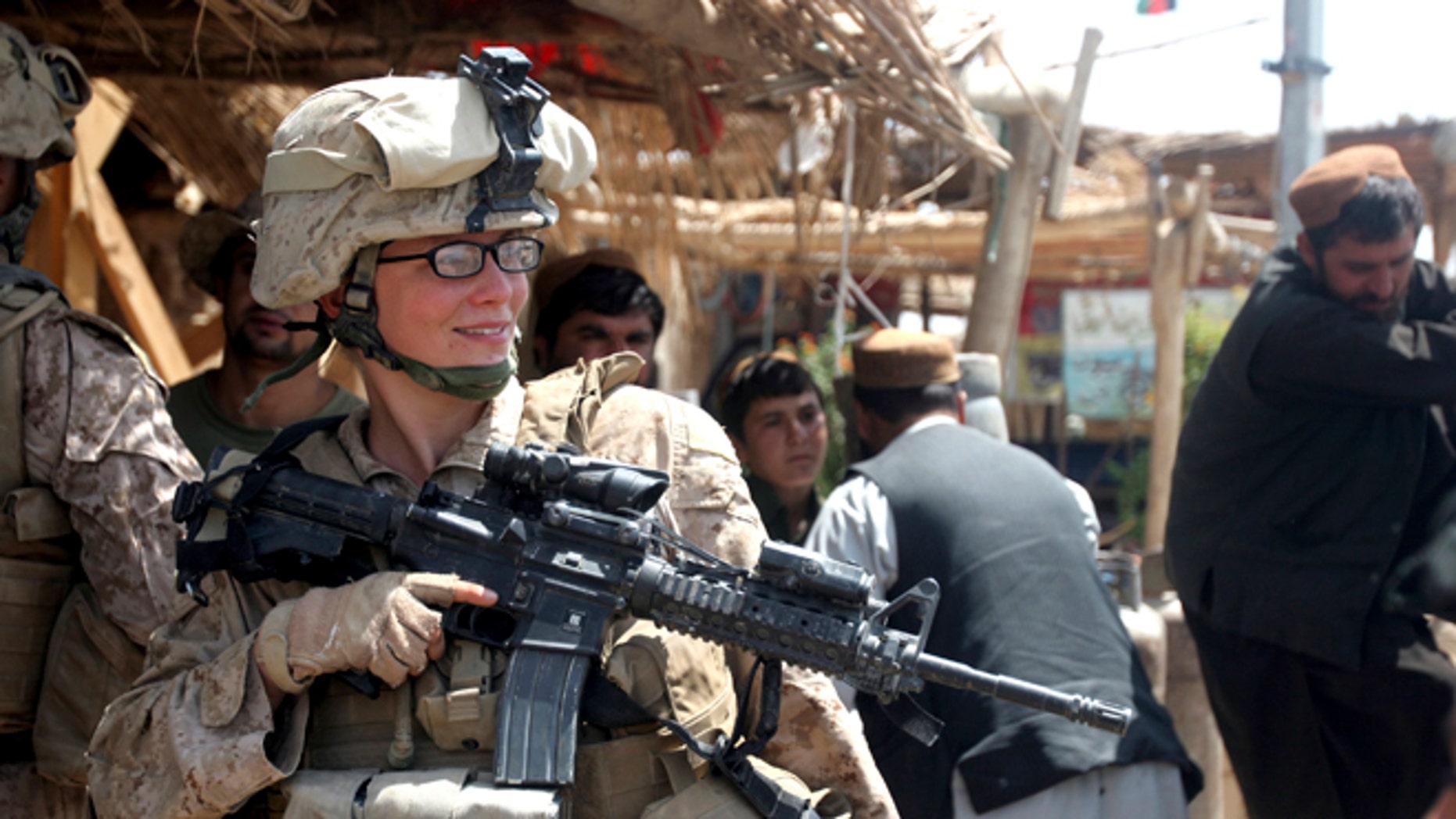 FILE: August 18, 2010: A female Marine in Marjah, Afghanistan.