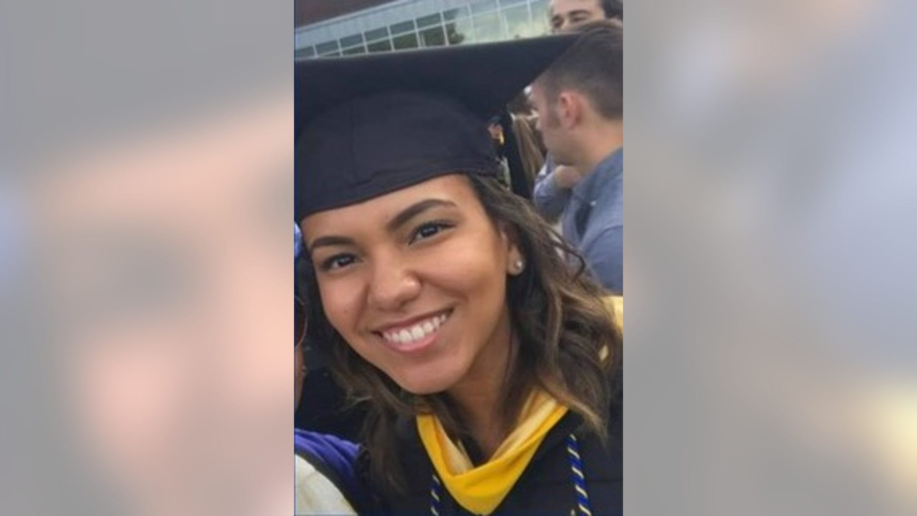 Virginia State Police said Marisa Harris, 22, was killed Saturday when a 12-year-old boy attempting suicide jumped from an overpass and landed on her vehicle, killing her.