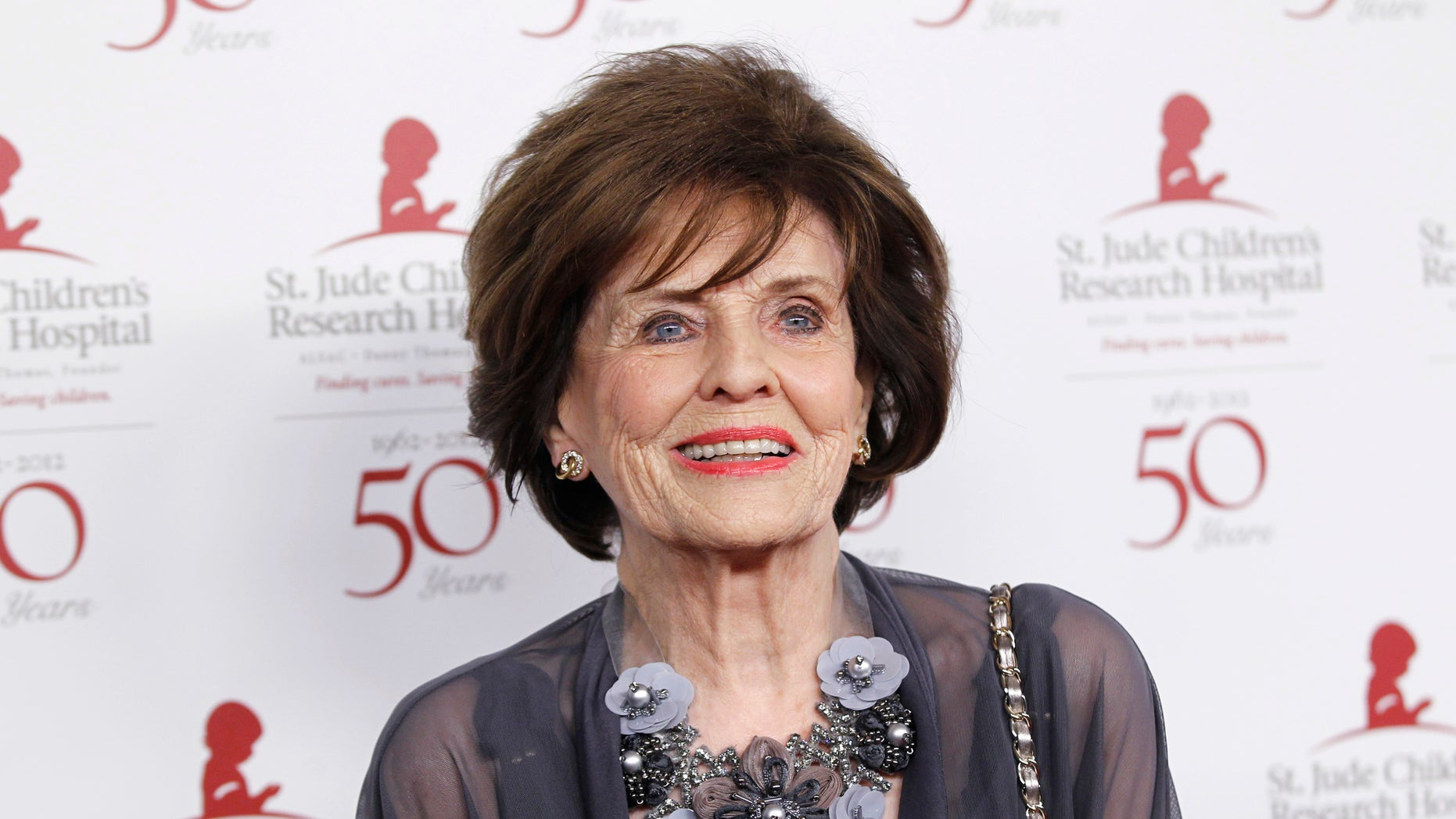January 7, 2012. Actress Marjorie Lord poses at the benefit gala for the 50th anniversary of St. Jude Children's Research Hospital in Beverly Hills, California.