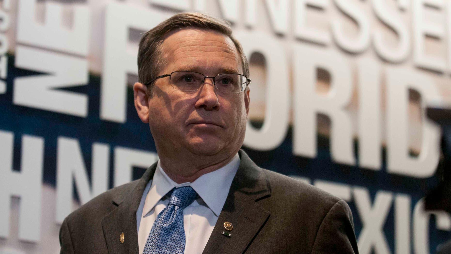 Sen. Mark Kirk on February 9, 2016 in Washington, DC.