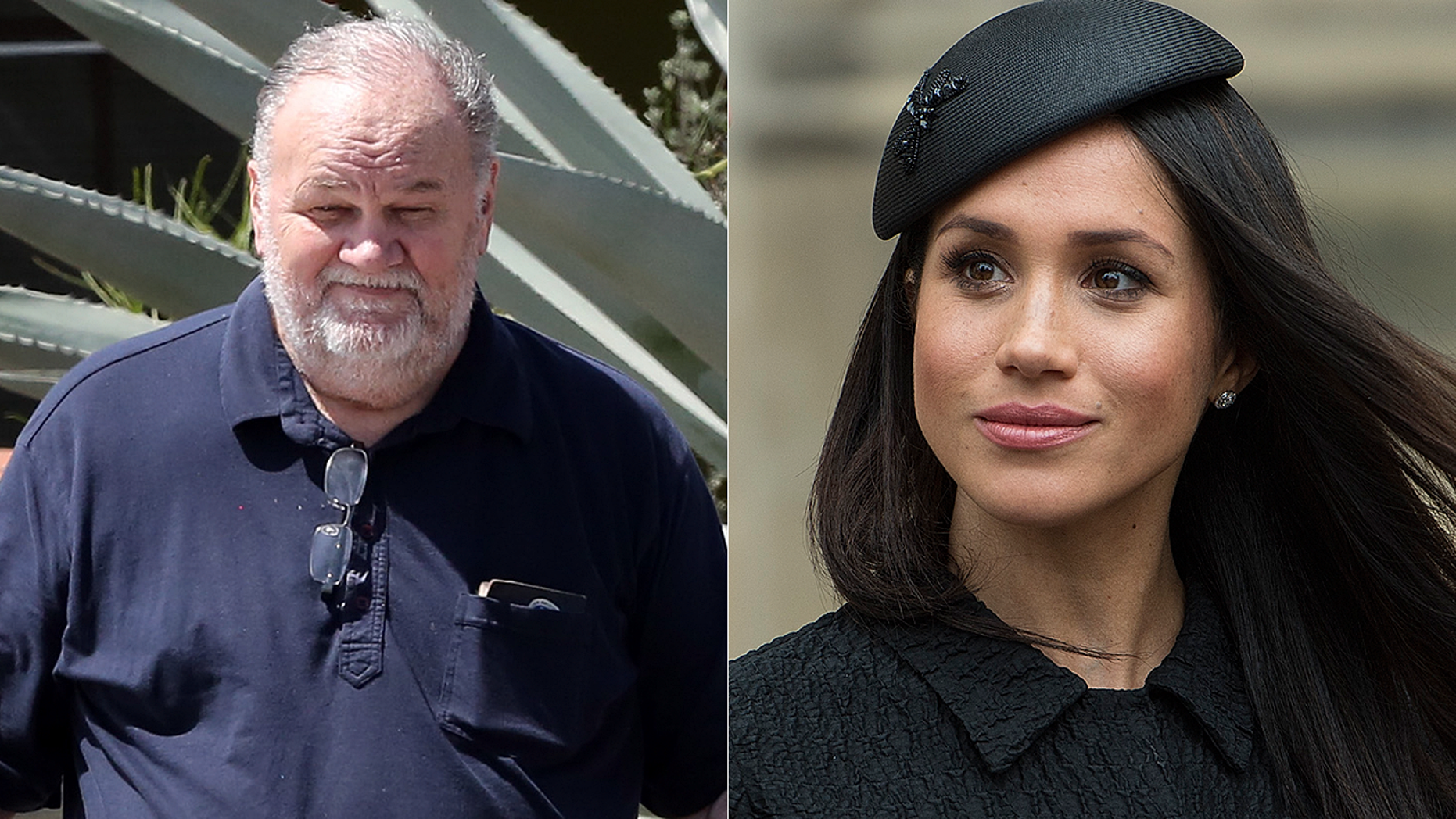 One royal biographer revealed in an upcoming TLC documentary that former Hollywood lighting director Thomas Markle (left) will likely never meet his daughter Meghan Markle's royal baby.