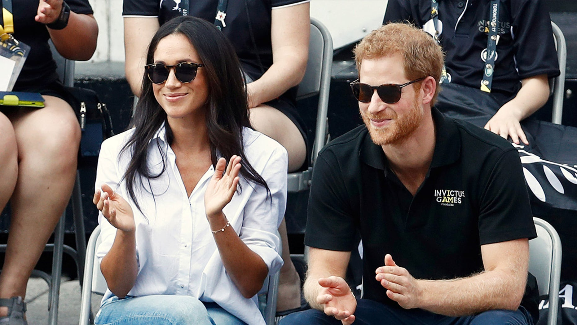 Meghan Markle and Prince Harry in their first public appearance at the September 2017 Invictus Games.