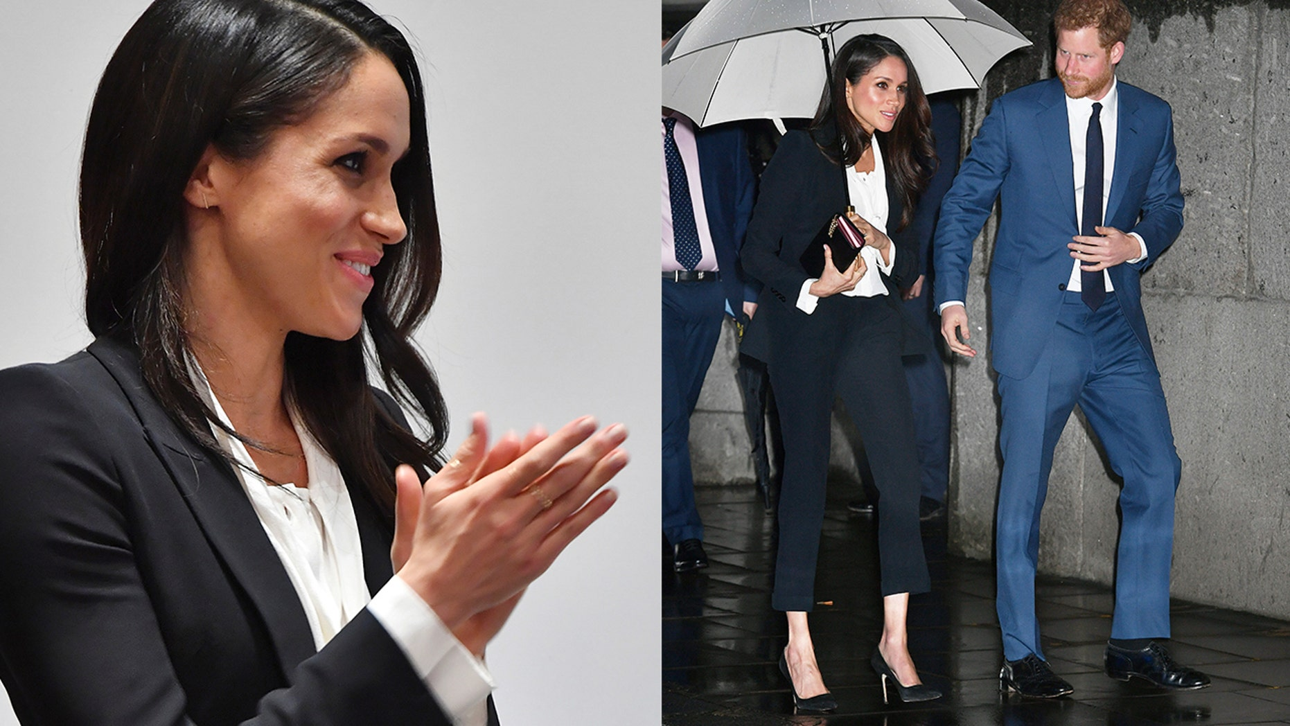 Meghan Markle's Alexander McQueen tuxedo-inspired separates sparked debate for breaking tradition at her first official evening event.