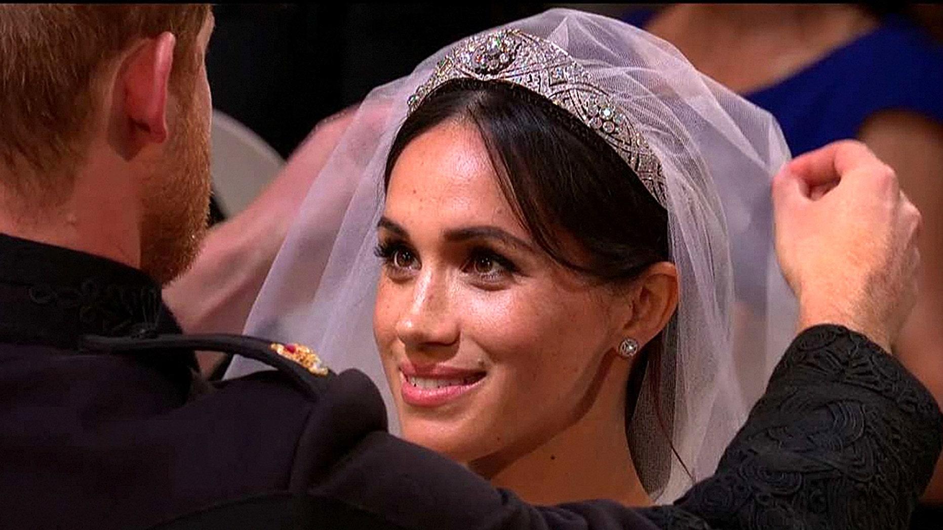 Meghan Markle's wedding tiara was lent to her by Queen Elizabeth II.