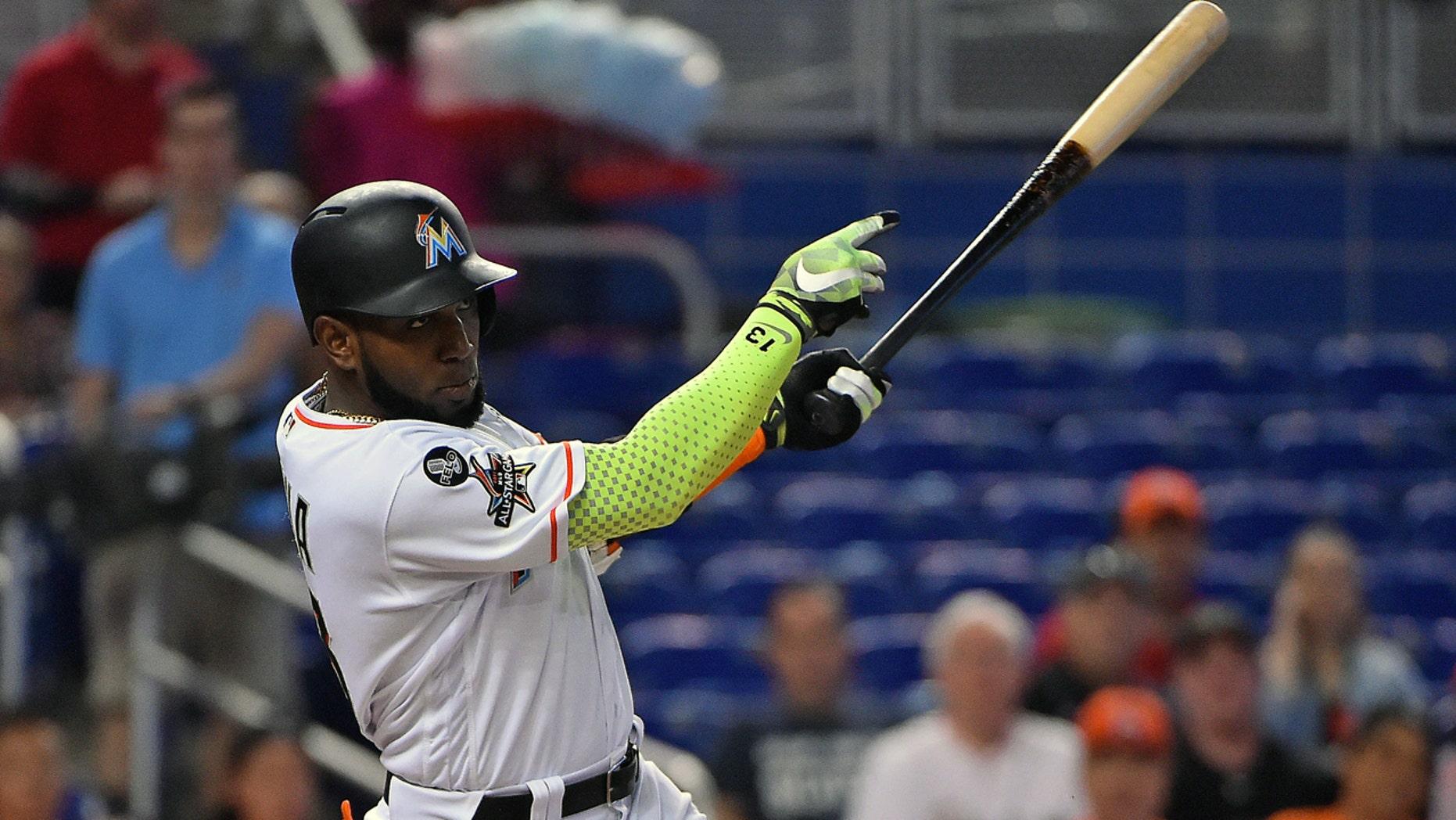Ozuna hit 37 home runs and drove in 124 runs during the 2017 season.