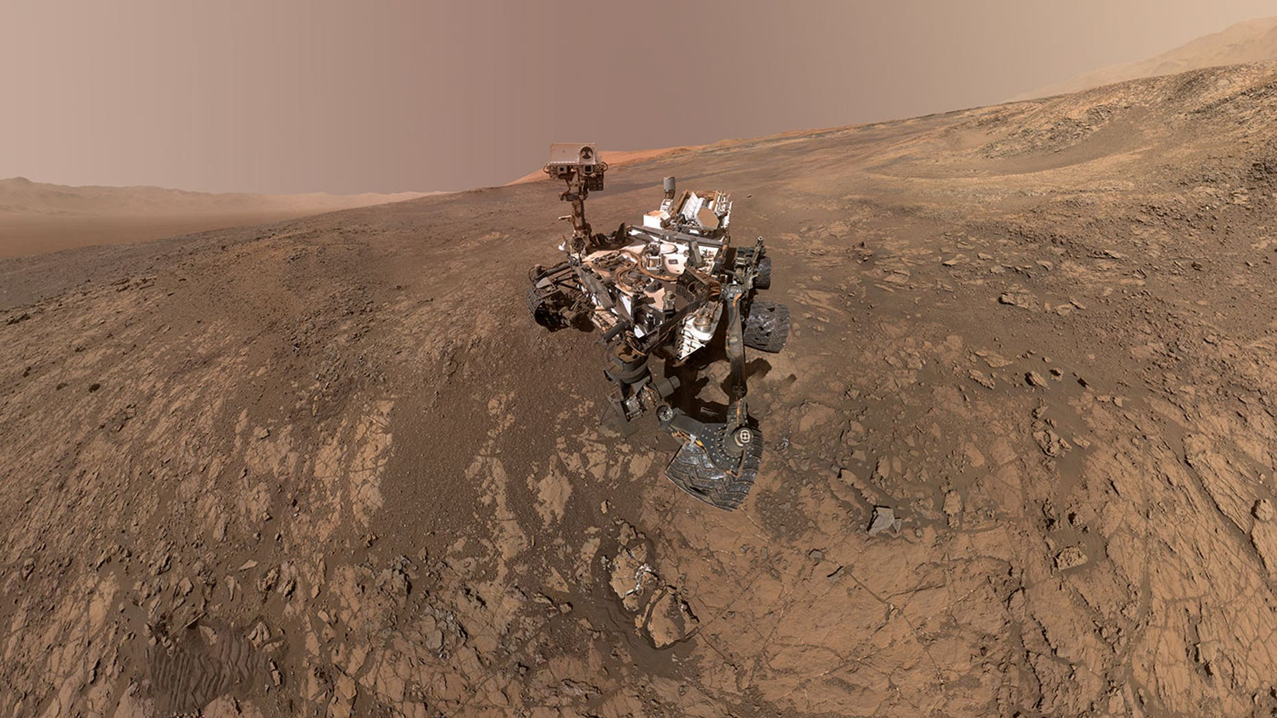 NASA will hold a press conference Thursday, June 7, 2018, to announce a new discovery on Mars from the Curiosity rover. Here, Curiosity snaps a selfie while perched on Vera Rubin Ridge on Mars in February 2018.