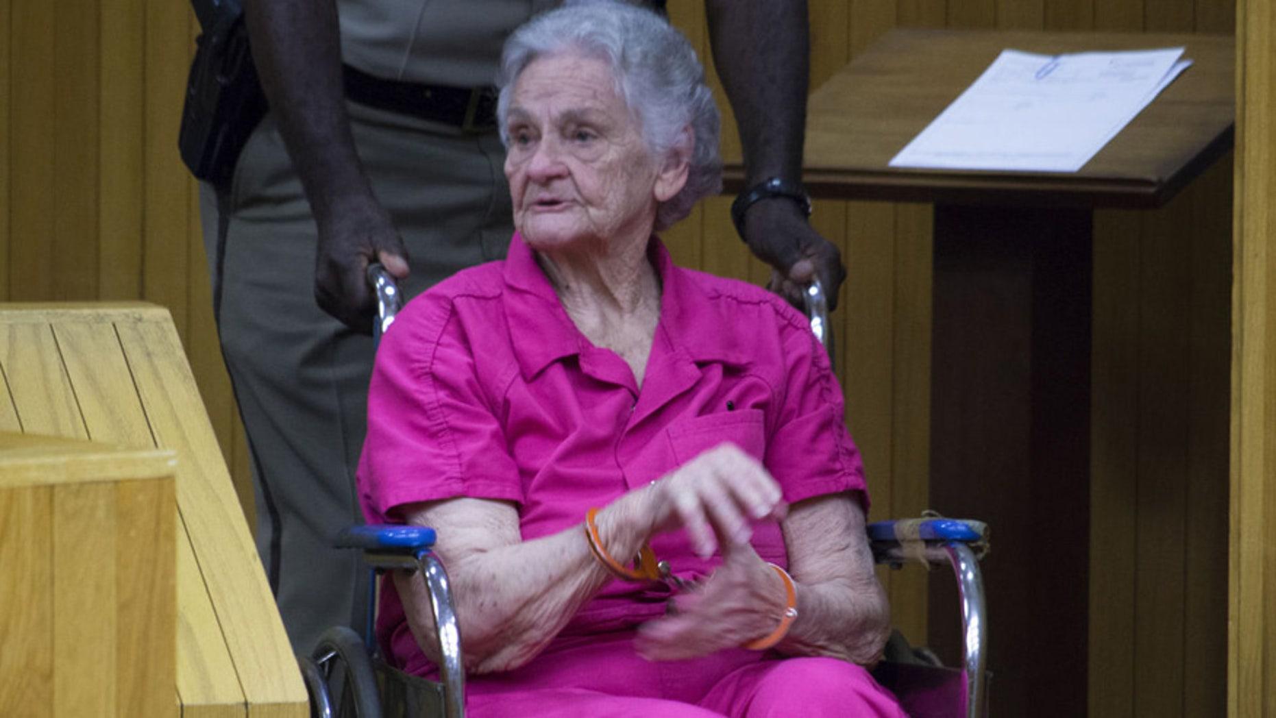 Margaret Kellis, 81, in court last week in Moore County, N.C.