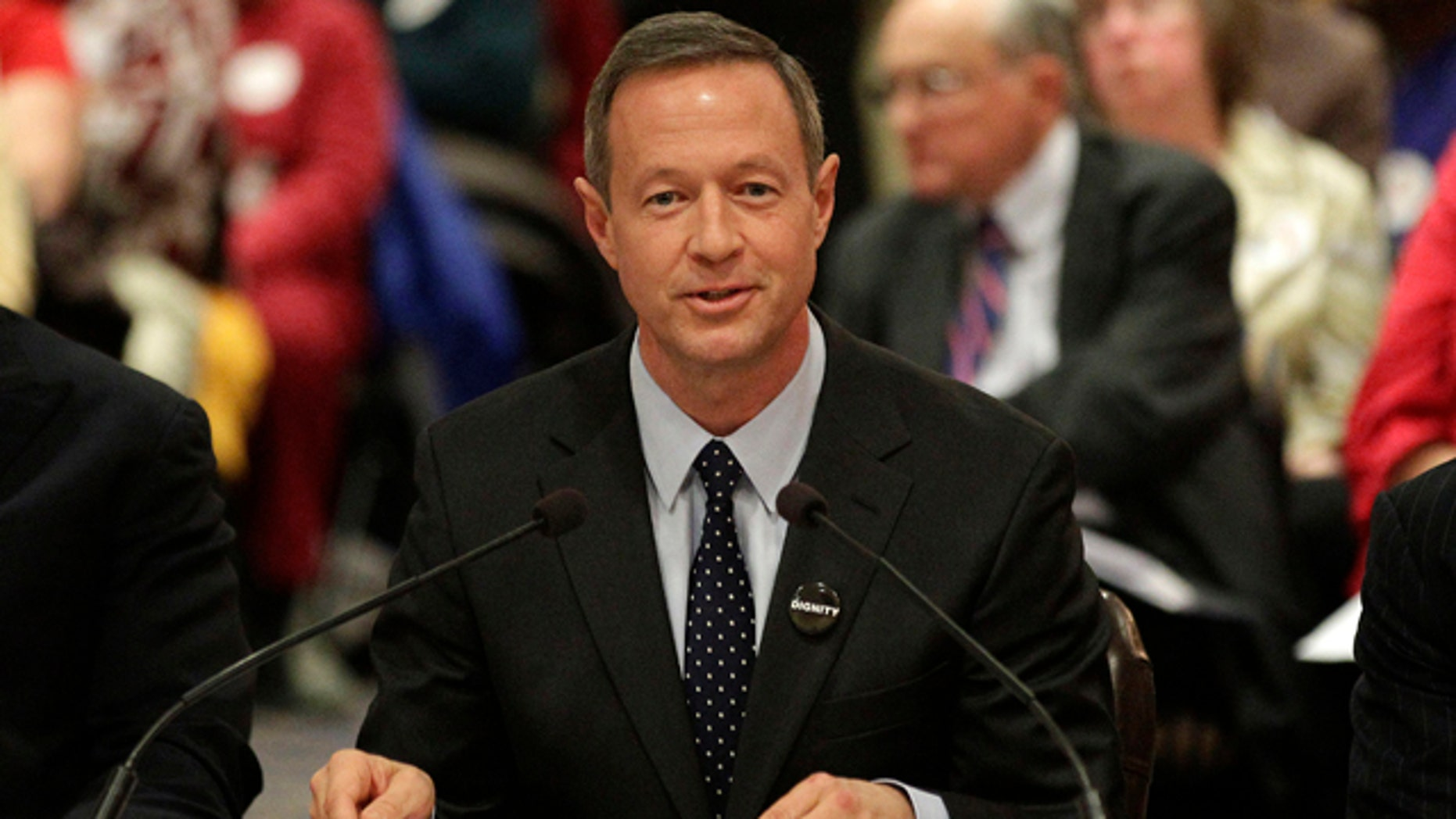 Feb. 10, 2012: Maryland Gov. Martin O'Malley testifies in support of a same-sex marriage bill during a committee hearing in Annapolis, Md.