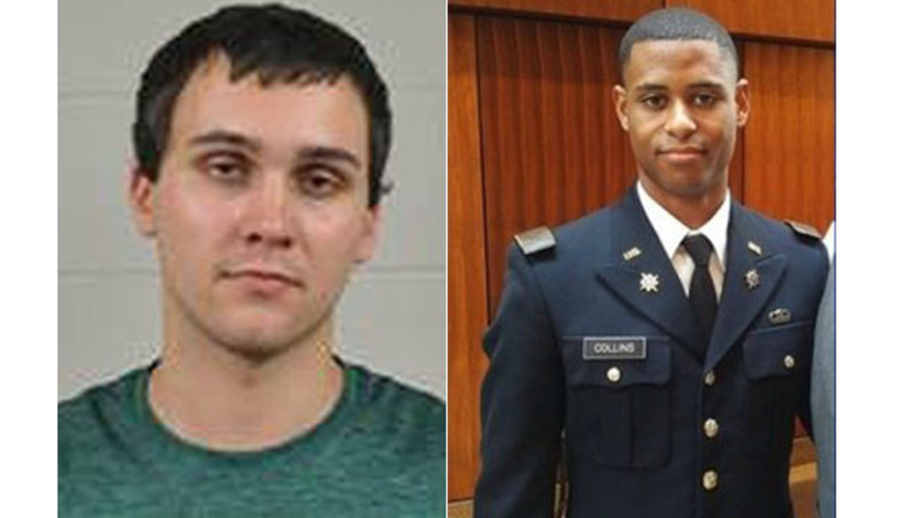 These undated images show Sean Urbanski, at left, and Richard Collins III. Urbanski is accused of stabbing Collins on the University of Maryland campus in College Park early Saturday, May 20, 2017.