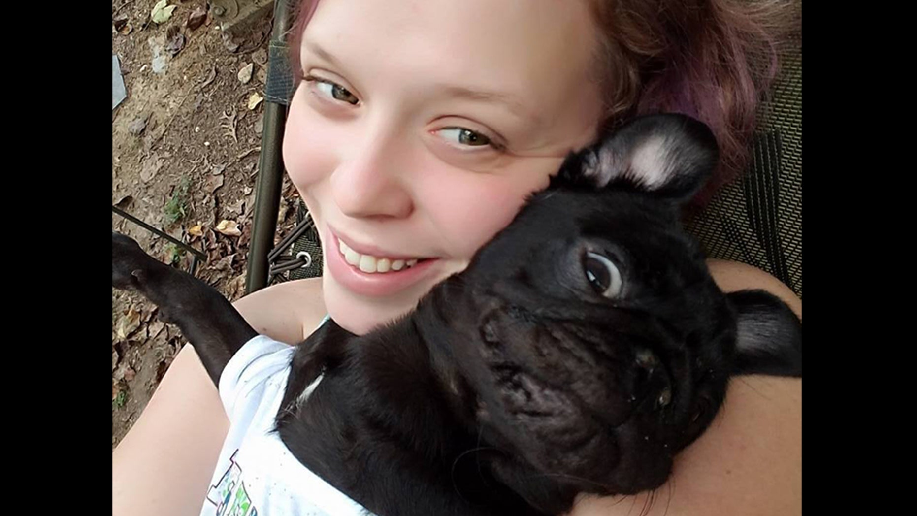 Katie Mason and her dog, Stella.