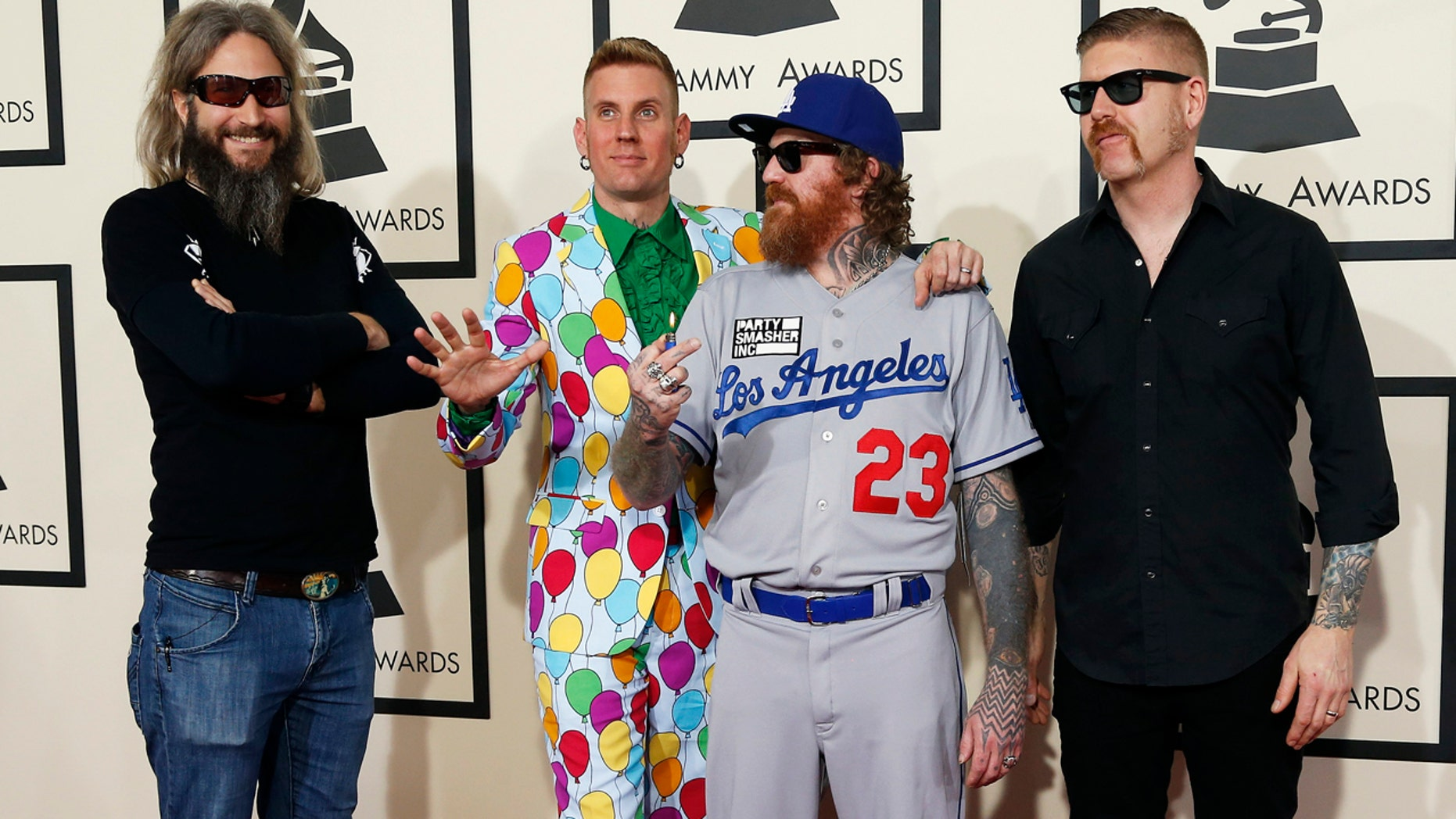 The musical group Mastodon arrives at the 57th annual Grammy Awards in Los Angeles, California February 8, 2015.  REUTERS/Mario Anzuoni  (UNITED STATES - TAGS: ENTERTAINMENT) (GRAMMYS-ARRIVALS) - RTR4OQ8S