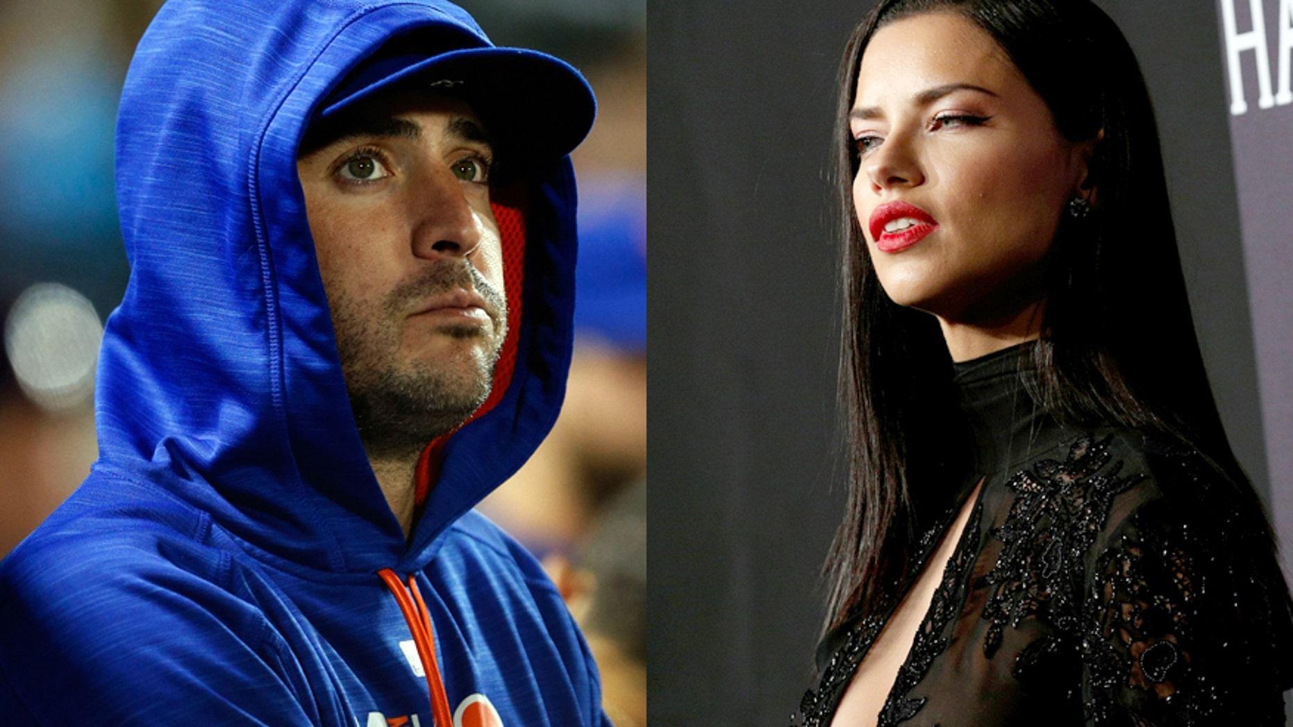 Mets player Matt Harvey (left) and model Adriana Lima.