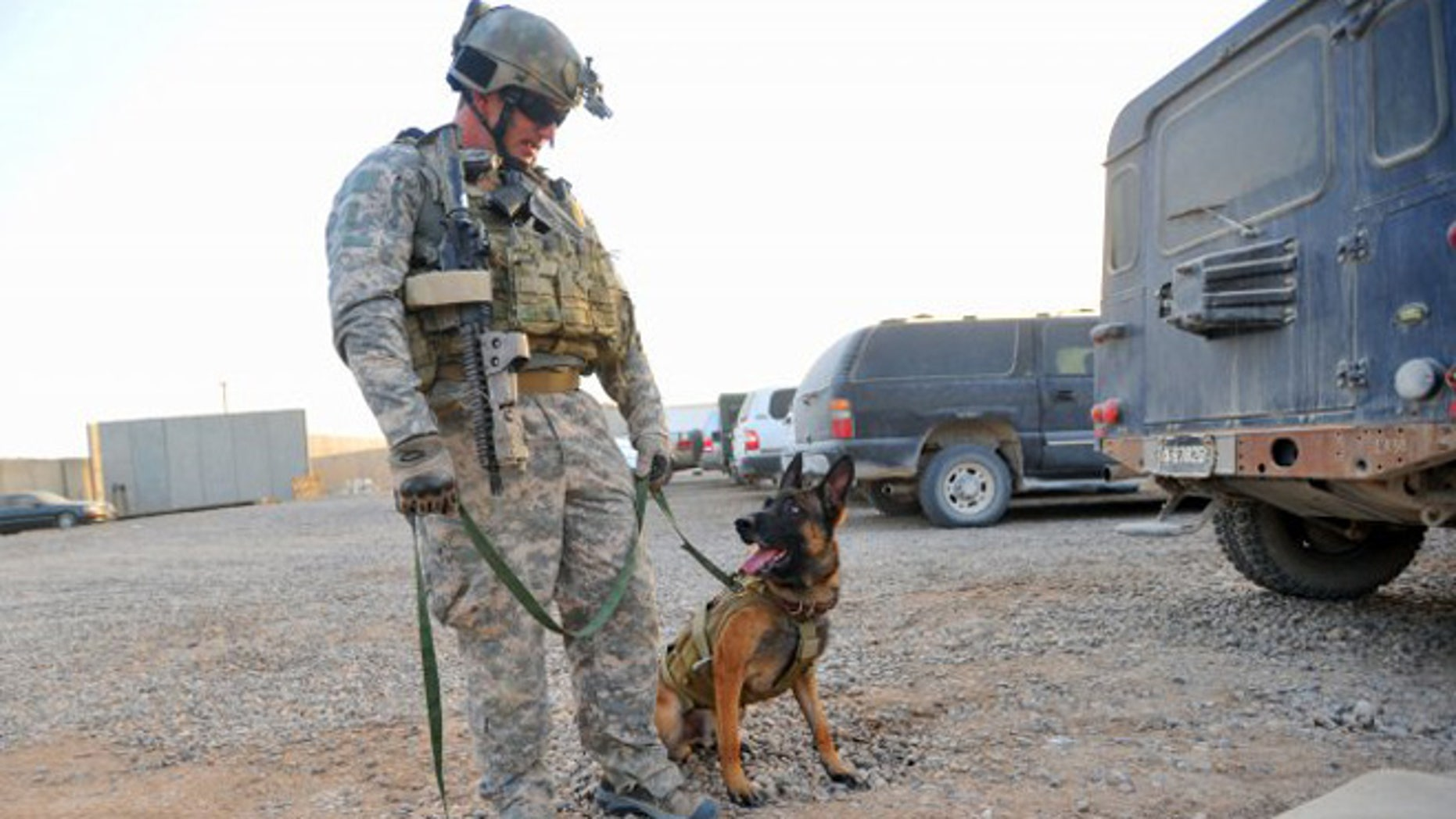 Retired Army Ranger Bessler and his multipurpose canine, Mike, were inseparable in Iraq.
