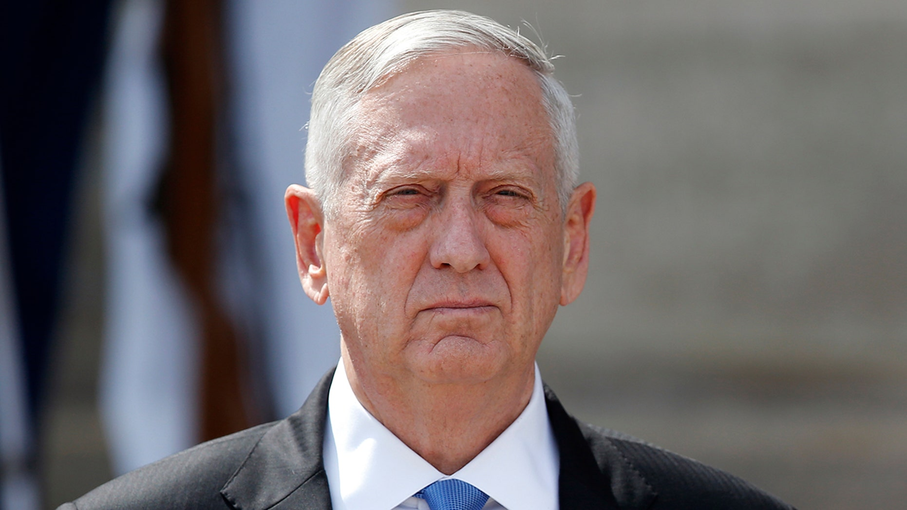 "Defense Secretary Jim Mattis pictured. The director of the UFO program asked Mattis in his October resignation letter: ""Why aren't we spending more time and effort on this issue?"""