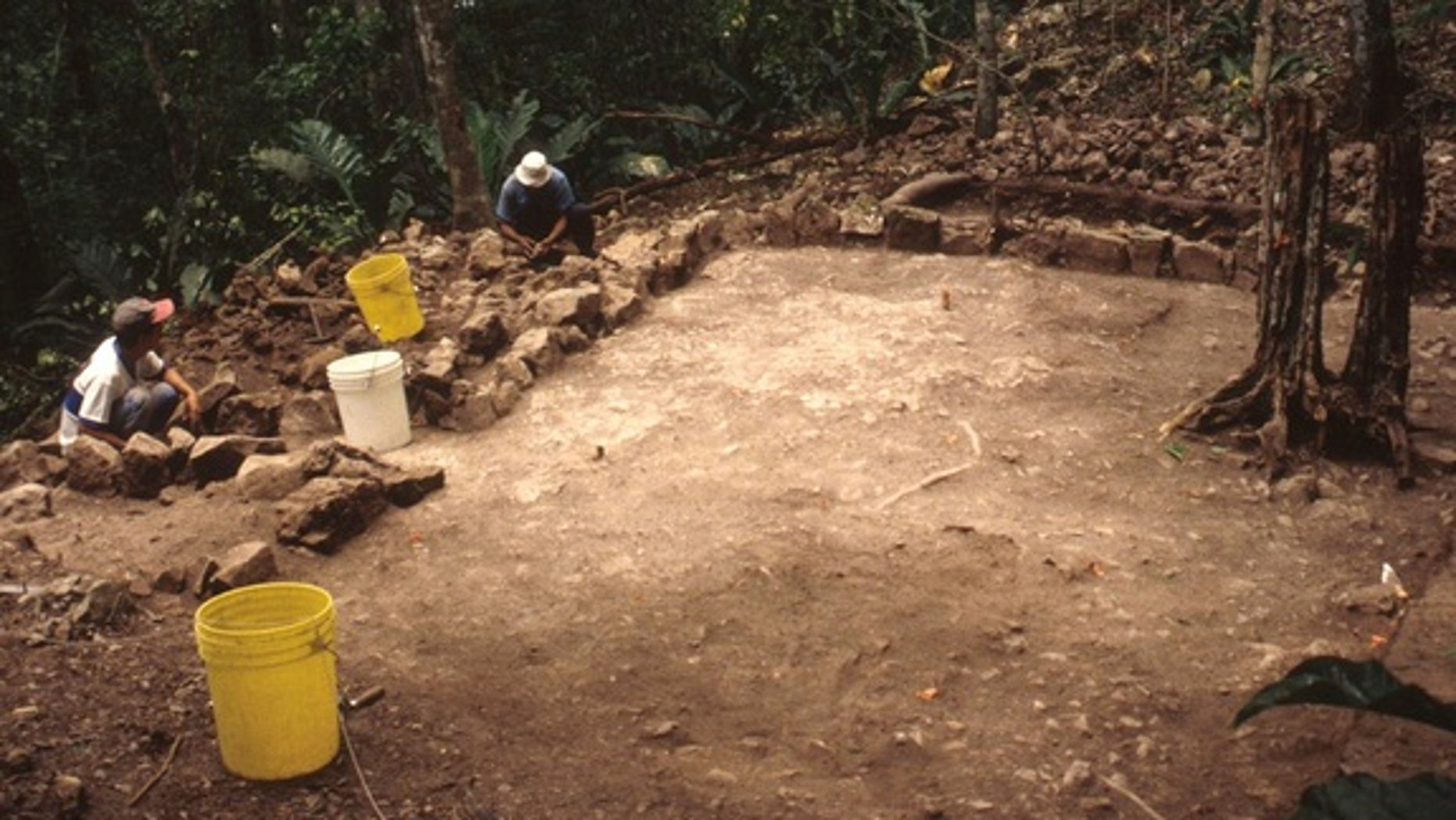 "Around 500 years ago, in this Maya temple at Zacpetén in Guatemala, a person was cut open using an obsidian arrowhead, and their blood was spilled in a ceremony that may have used a person's ""life force"" to feed the gods."