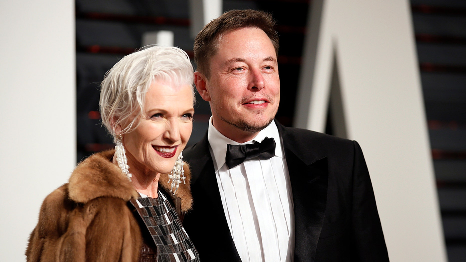 Maye Musk, CoverGirl's latest ambassador, and her son Elon, of PayPal and Tesla fame.