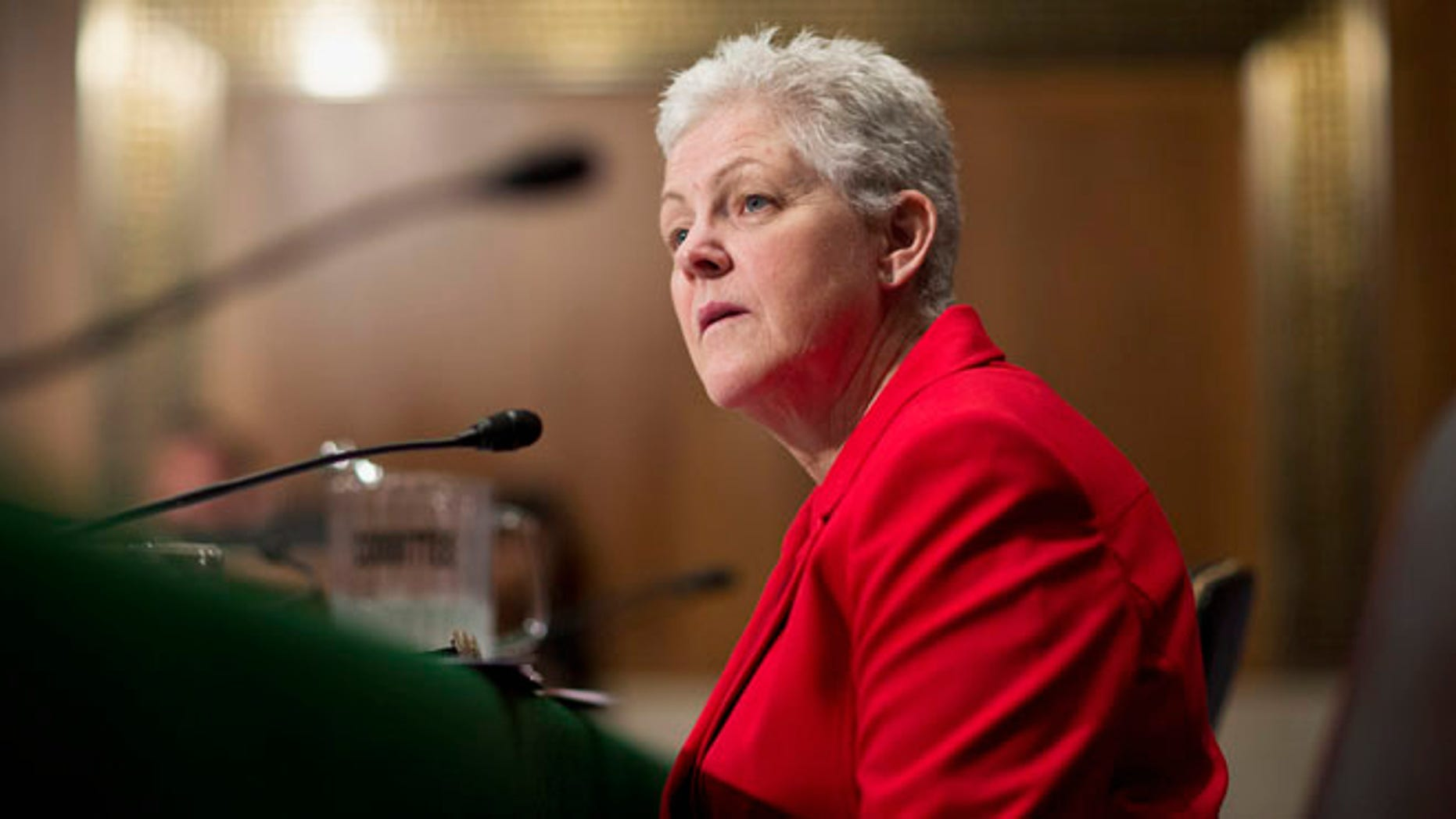 April 11, 2013: Gina McCarthy testifies before a Senate Environment and Public Works Committee hearing on her nomination to be administrator of the Environmental Protection Agency on Capitol Hill.