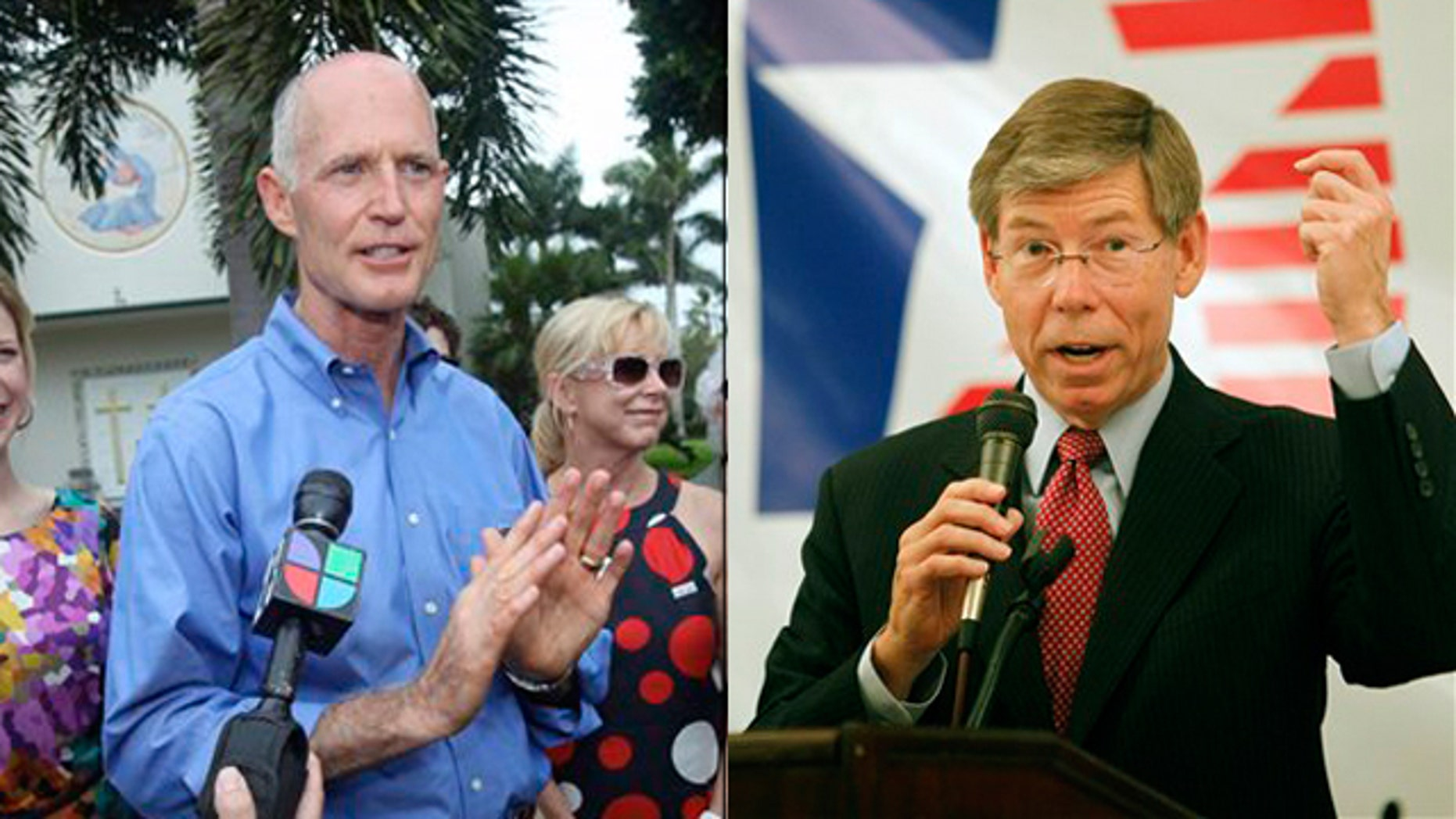 Shown here are Rick Scott, left, and Florida Attorney General Bill McCollum. (AP Photos)