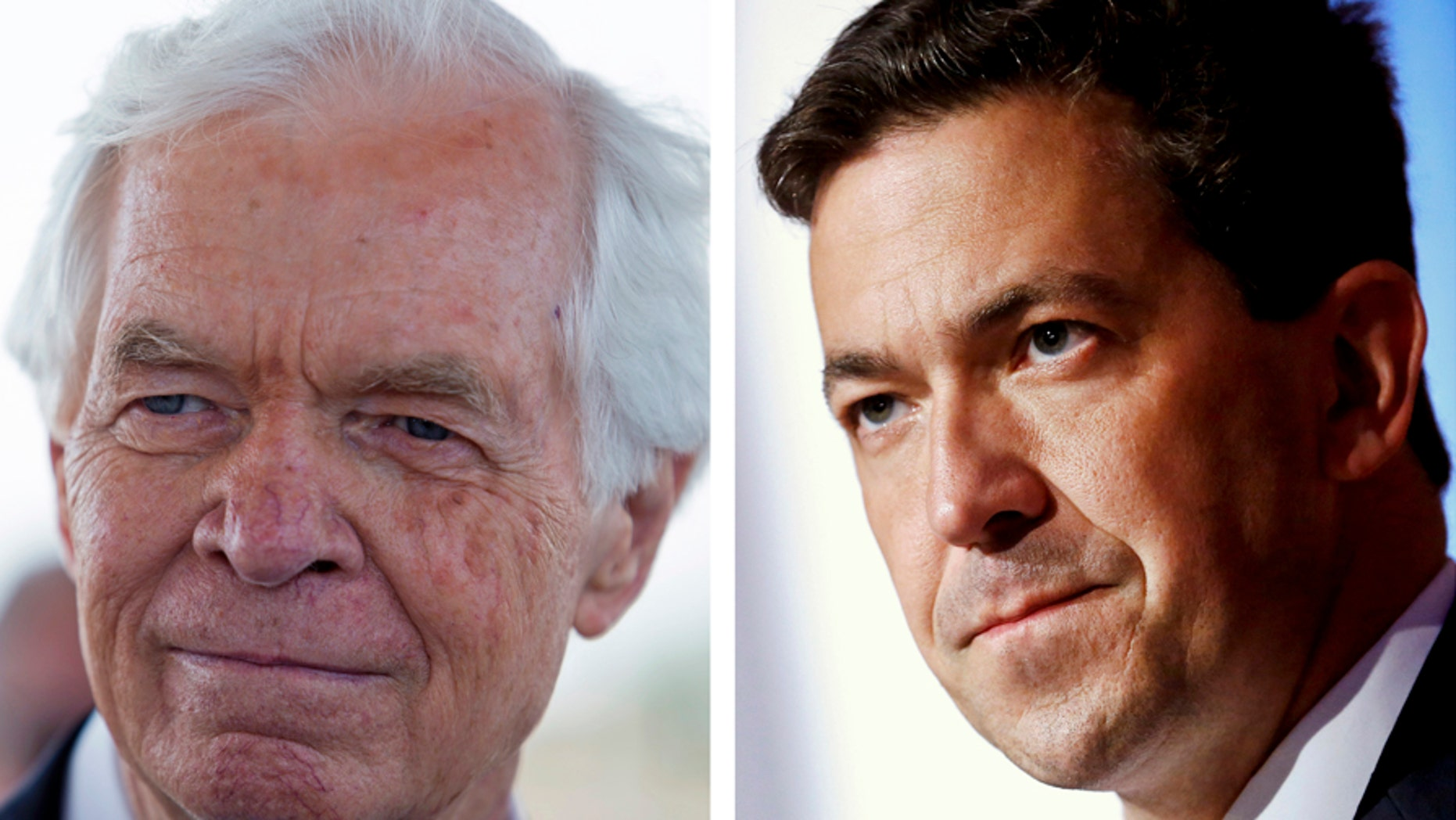 Sen. Thad Cochran, R-Miss., left, resigned last week, leaving his seat vacant. State Sen. Chris McDaniel, right, who unsuccessfully ran for the Cochran seat in 2014, will again run to fill that Senate seat, instead of incumbent Sen. Roger Wicker, R-Miss.