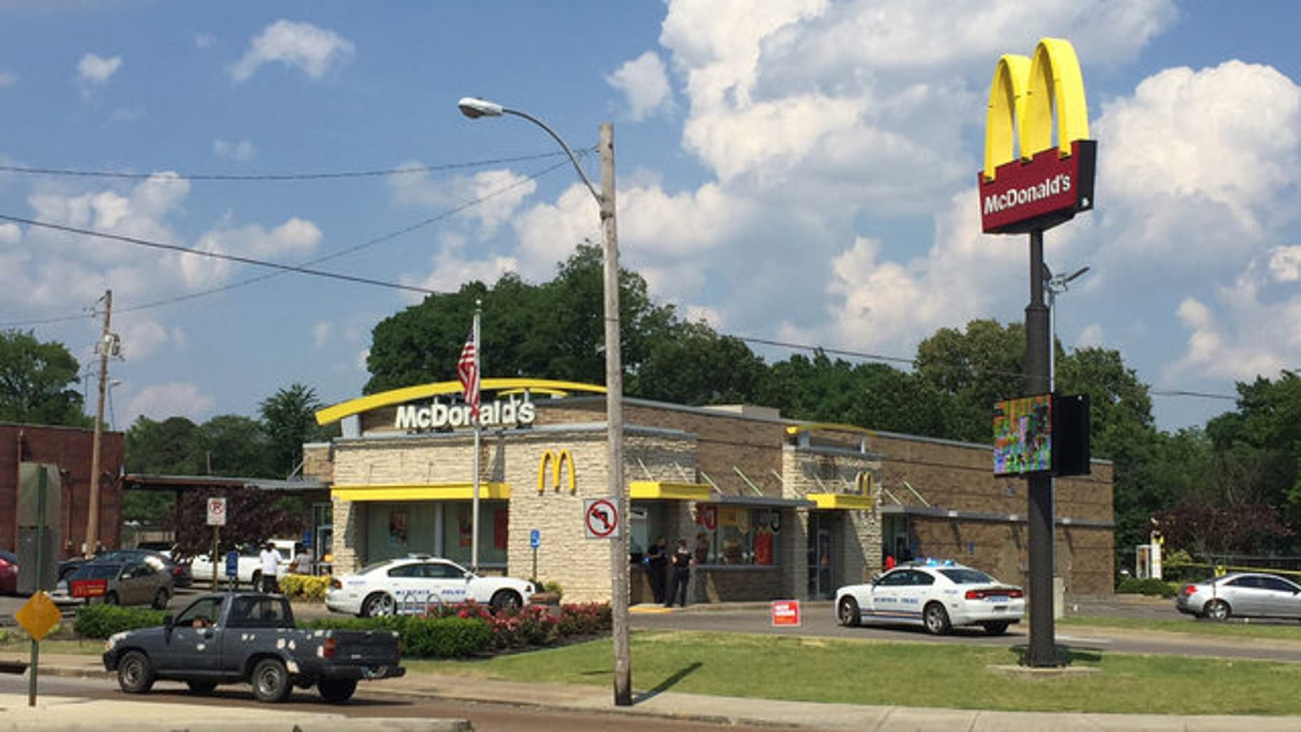 A man shot one of the four suspects who were attempting to rob him at a Memphis McDonald's.