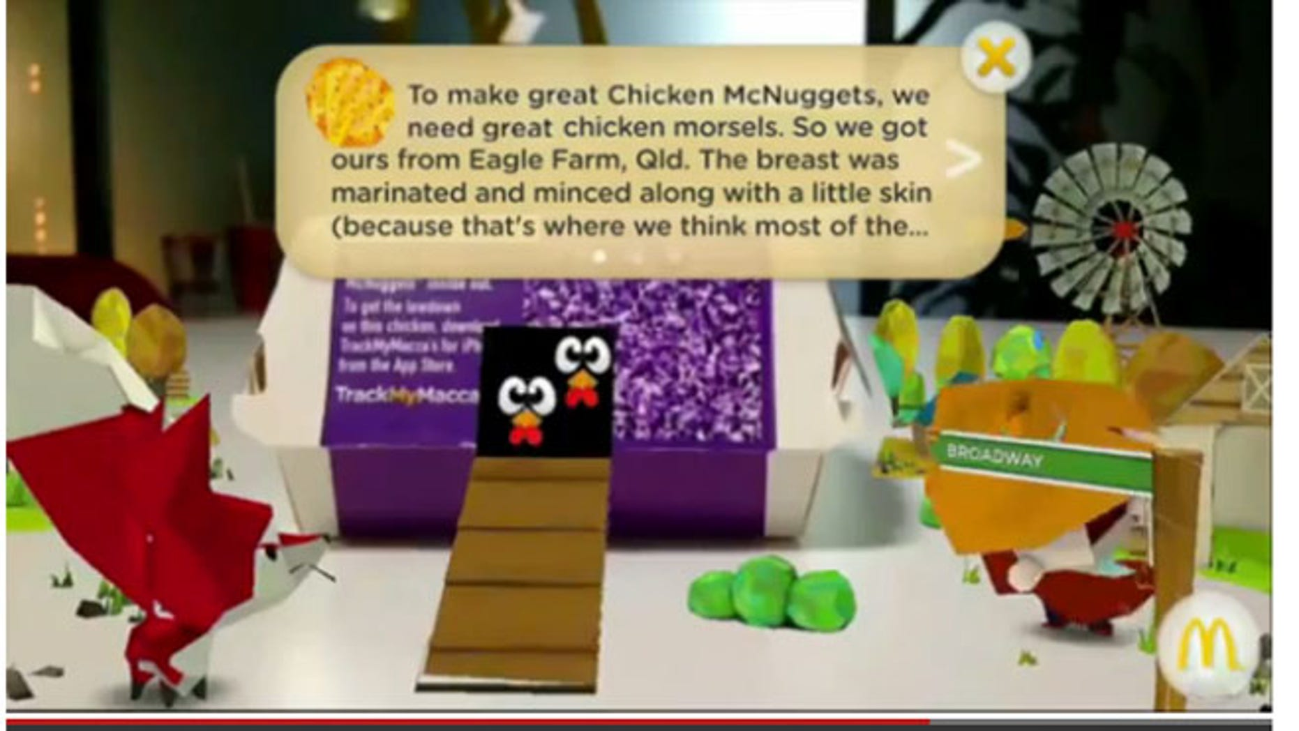McDonald's has launched an app that allows customers to track exactly where their food has come from.