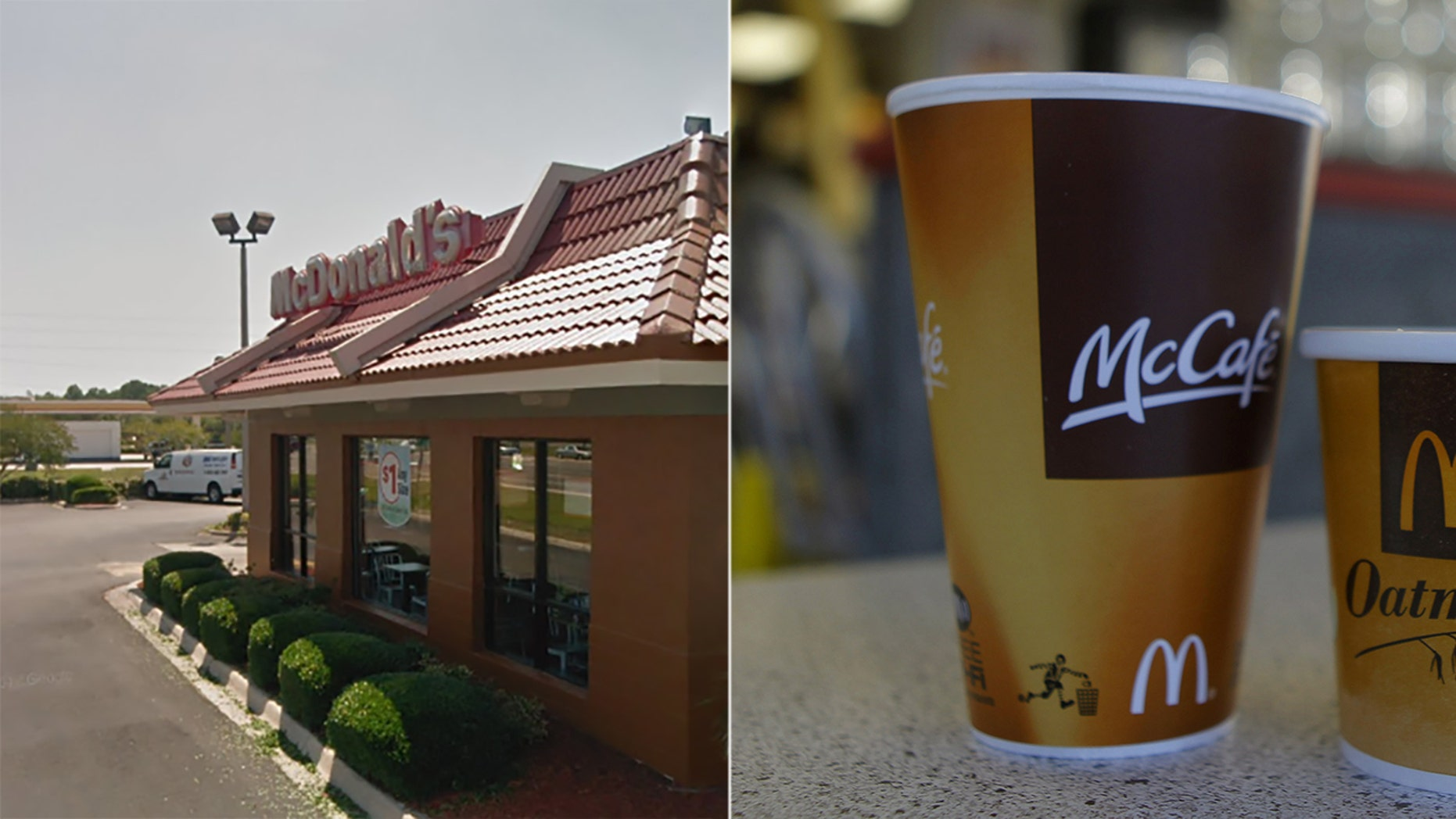 A witness at the Jacksonville McDonald's backs up the manager's claim that a customer threw coffee at her.
