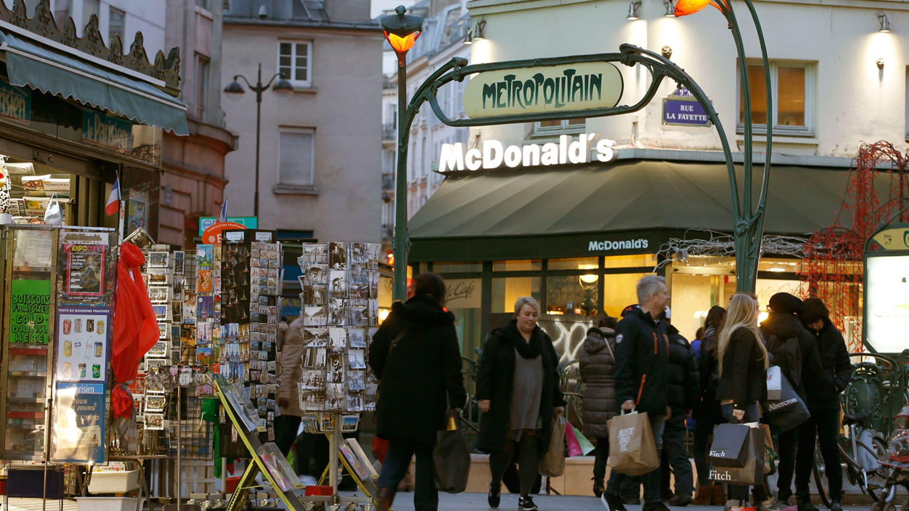 McDonald's restaurants in France are about to get slightly fancier.