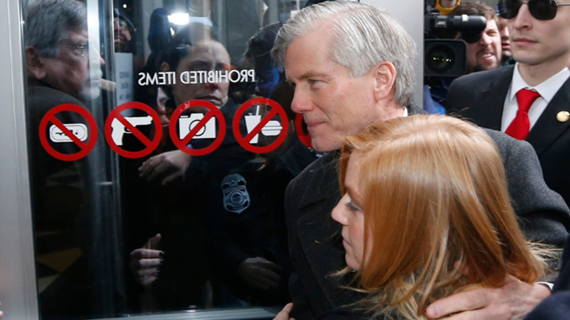 Jan. 6, 2015: Former Virginia Gov. Bob McDonnell arrives at federal court with his daughter Cailin Young in Richmond, Va.