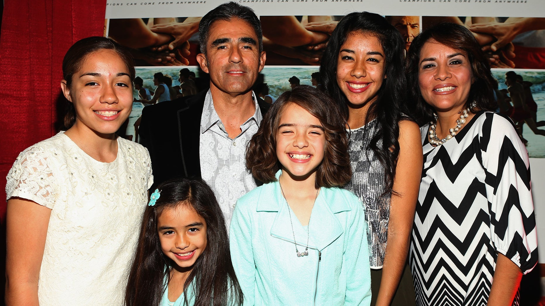 Runner David Diaz and guests attend a special screening of 'McFarland, USA' in Bakersfield, CA on Feb. 15th, 2015.