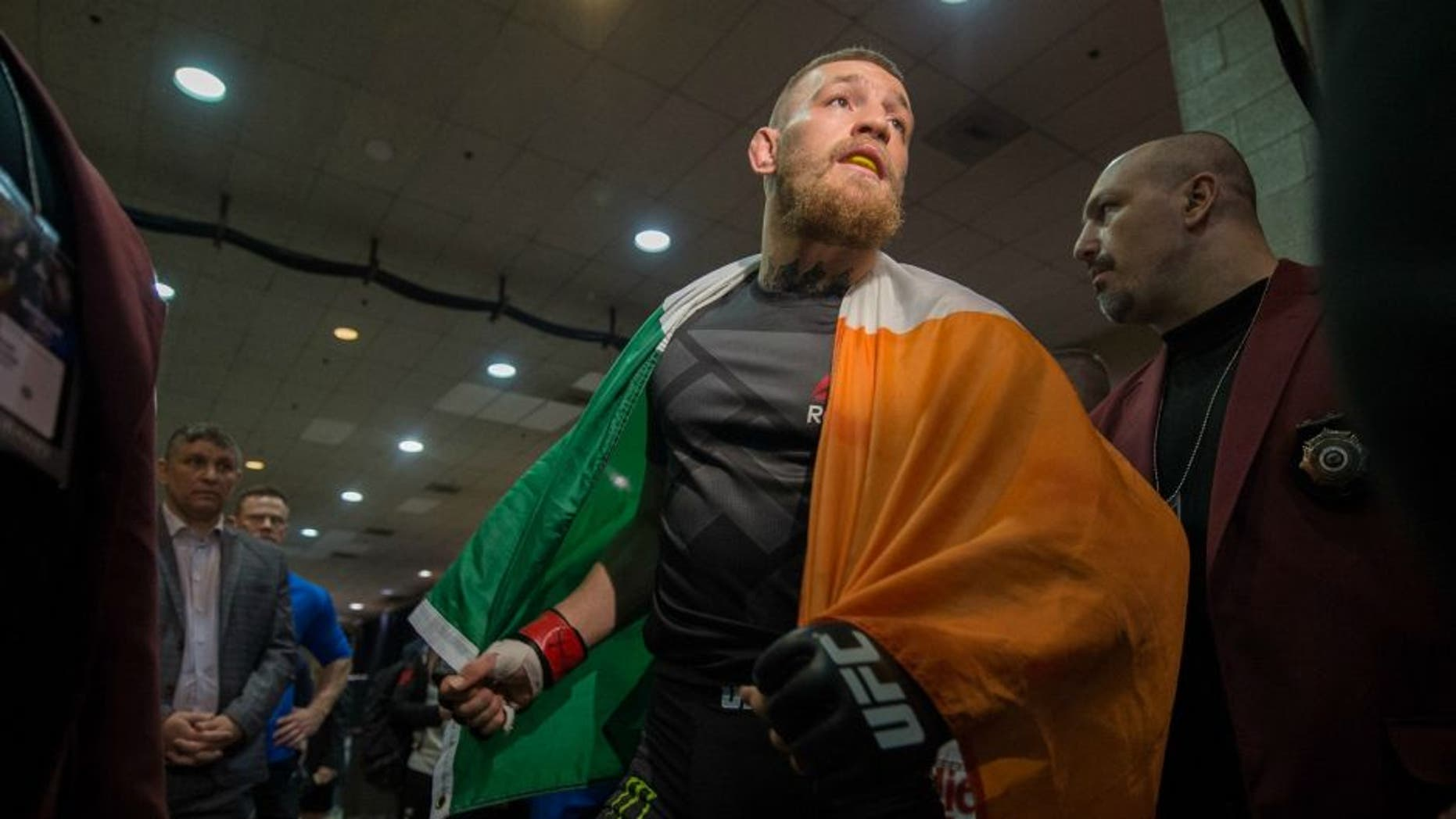 LAS VEGAS, NV - MARCH 5: Conor McGregor warms up backstage during the UFC 196 in the MGM Grand Garden Arena on March 5, 2016 in Las Vegas, Nevada. (Photo by Brandon Magnus/Zuffa LLC/Zuffa LLC via Getty Images)