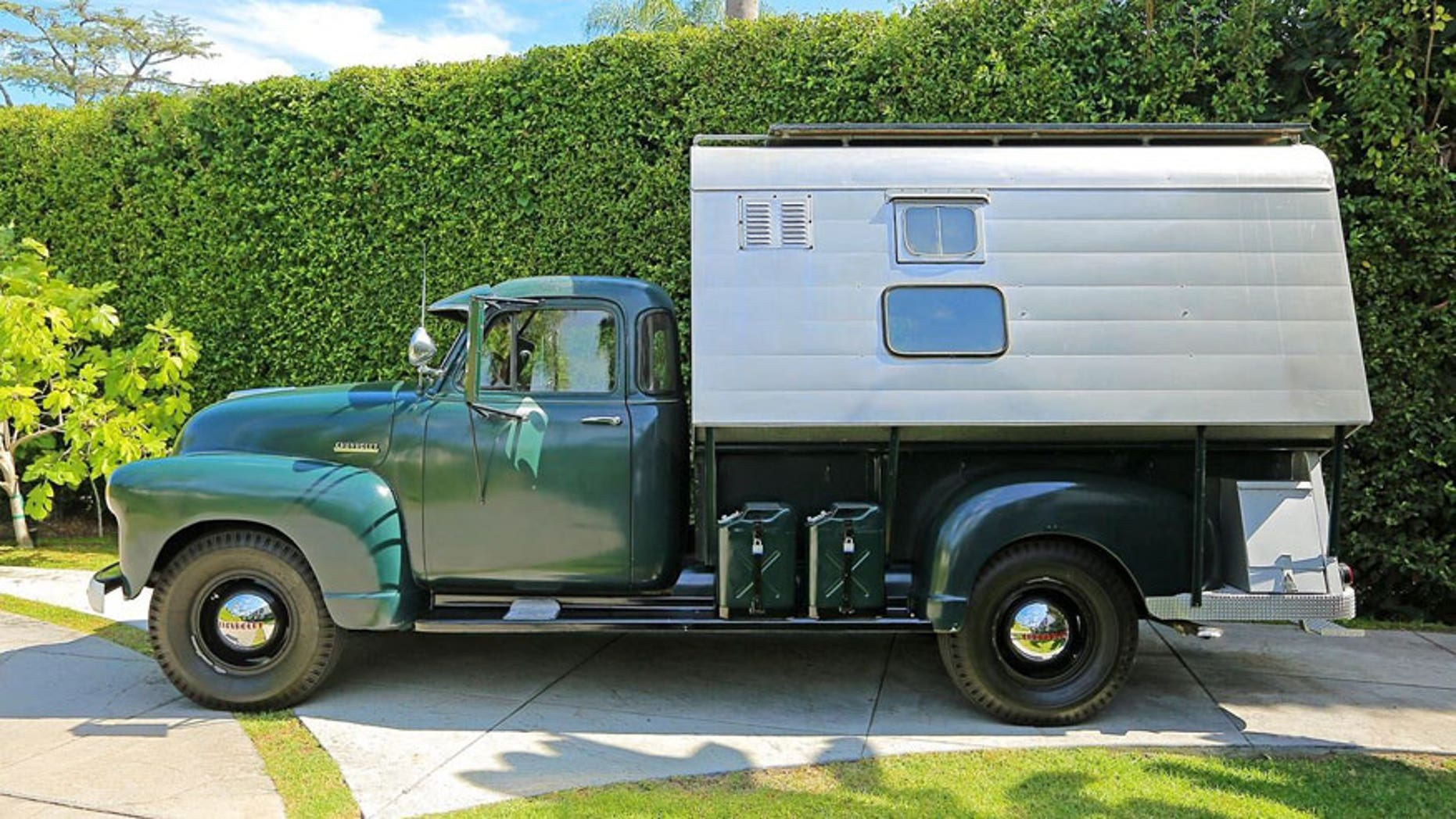 Steve McQueen's 1952 Chevrolet pickup camper being auctioned